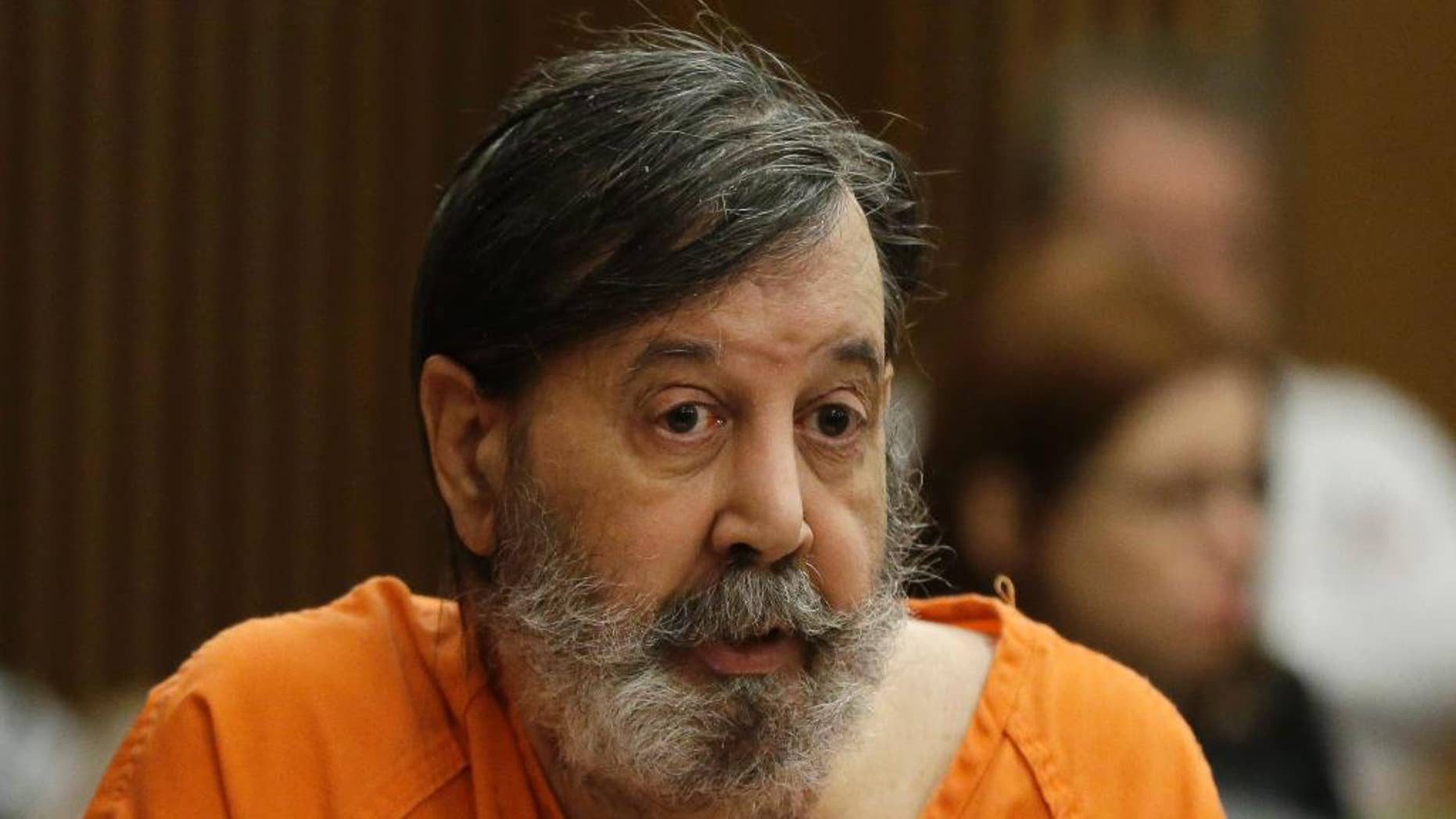 FILE-This Monday, Dec. 16, 2013 file photo shows bobby Thompson speaking during his sentencing on racketeering, theft, money laundering charges. (AP Photo/Mark Duncan, File)