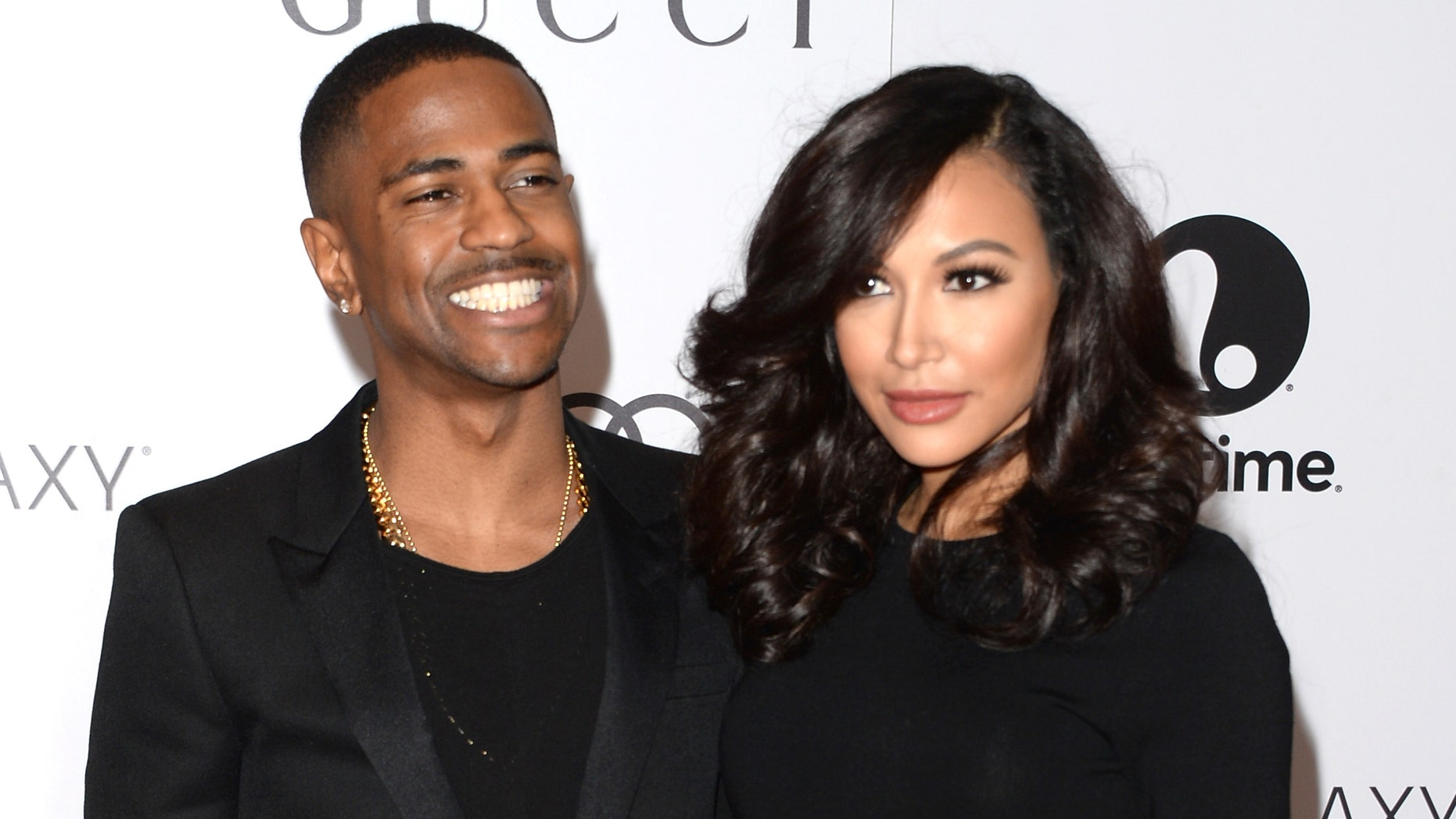 Big Sean and Naya Rivera at Beverly Hills Hotel on December 11, 2013 in Beverly Hills, California.