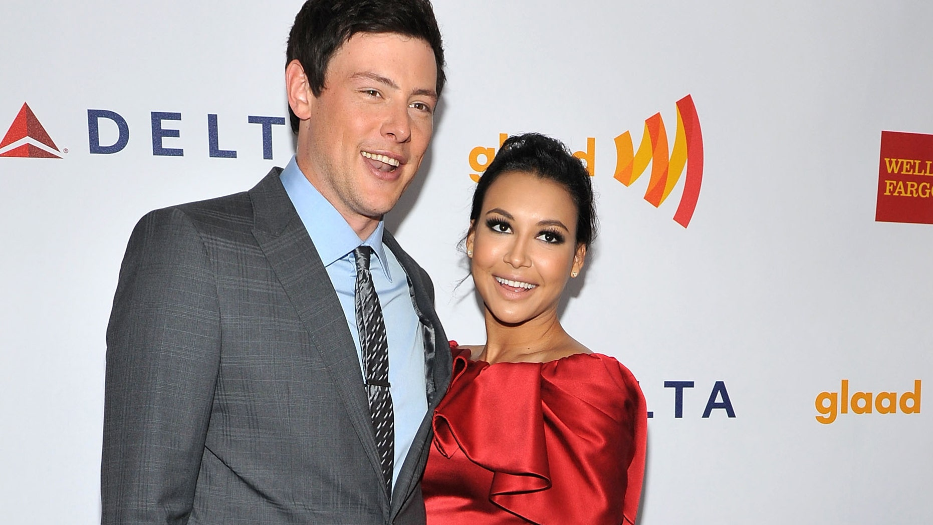 Actors Cory Monteith and Naya Rivera attend the Annual GLAAD Media Awards on March 24, in New York City.