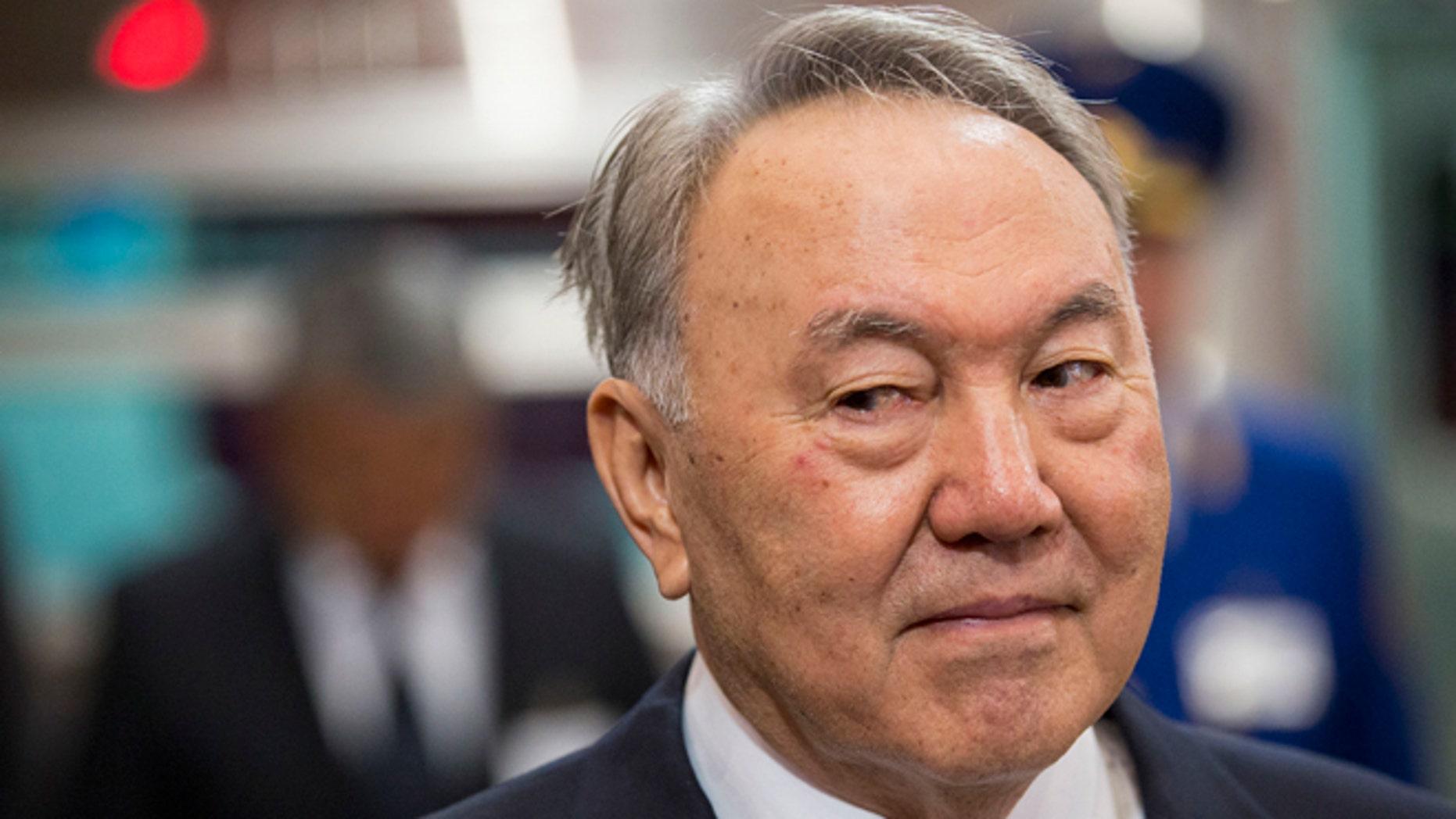 April 18, 2015: Kazakhstan President Nursultan Nazarbayev is seen in Almaty, Kazakhstan.