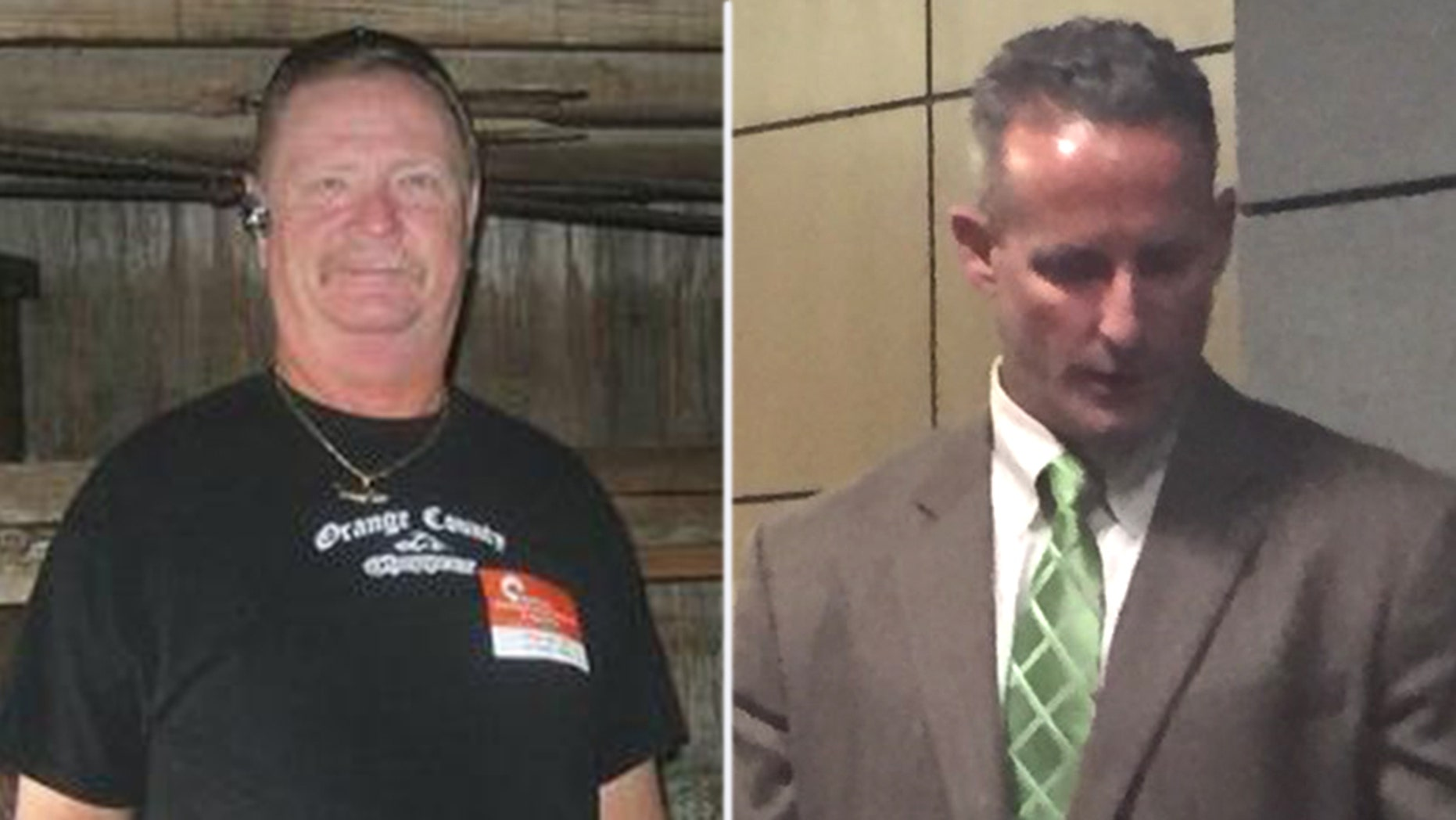 Carlton Nebergall Jr, 61 (left), and son Jason Nebergall, 39.