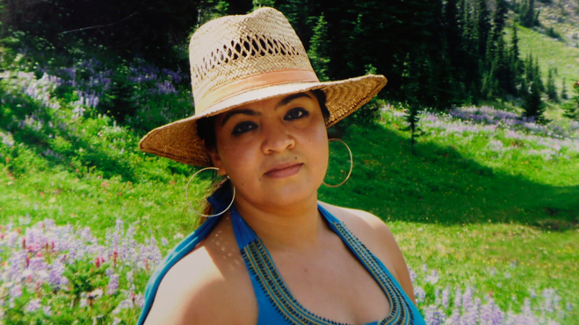 FILE - This 2009 file family photo provided by Grisel Rodriguez shows Nestora Salgado, who has been detained since she was arrested Aug. 21, 2013 in the state of Guerrero, south of Mexico City, where she had been leading a vigilante group targeting police corruption and drug cartel violence. A proposal to free a Salgado, who holds dual U.S.-Mexico nationality has become a subject of heated debate in Mexico. Victims-rights activists say freeing her would be an added offense to victims of unlawful detention. Supporters claim she is a crime-fighter and victim of a political vendetta. (AP Photo/Grisel Rodriguez, File)