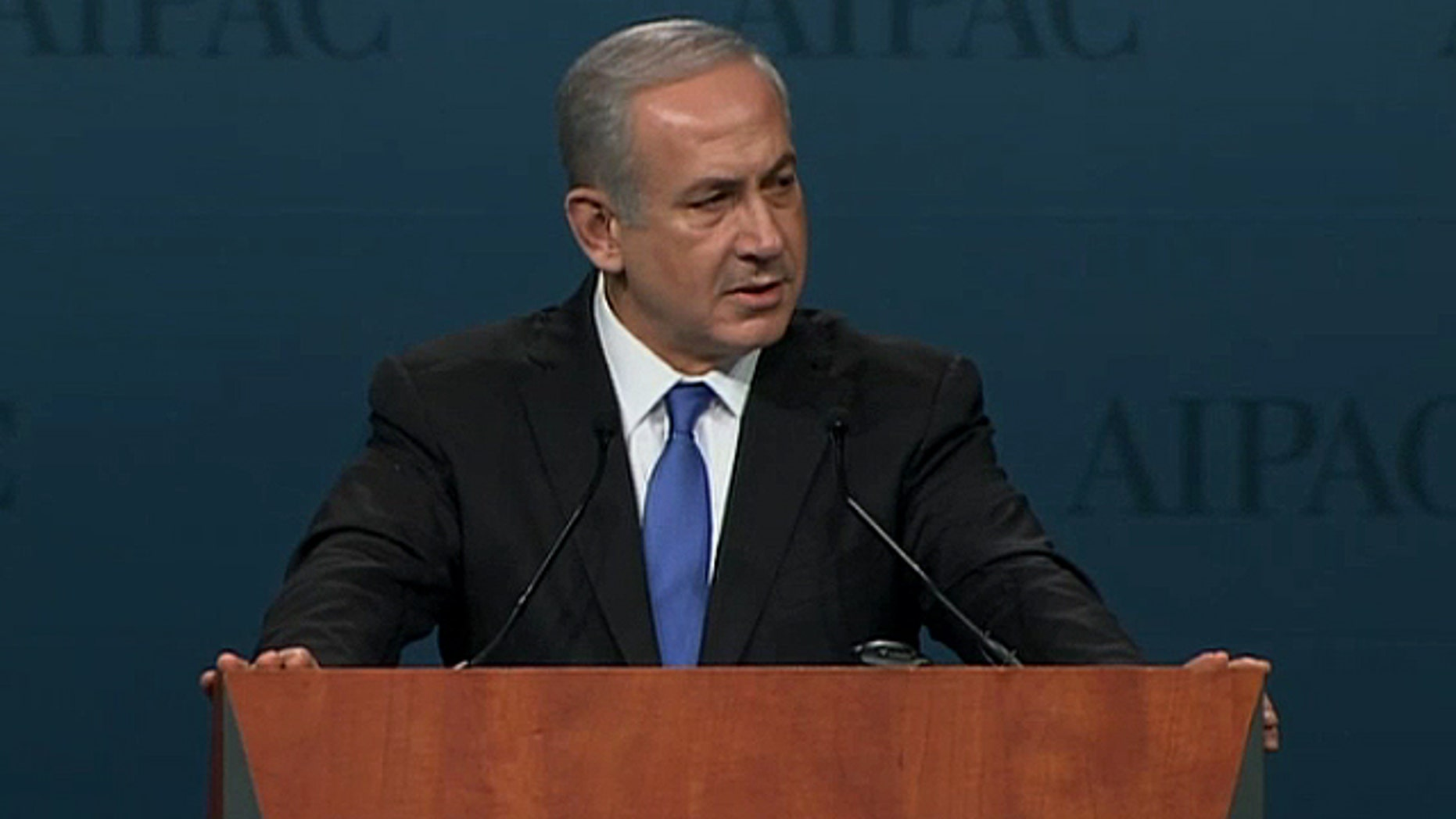 March 5, 2012: Israel Prime Minister Benjamin Netanyahu addresses the American Israel Public Affairs Committee.