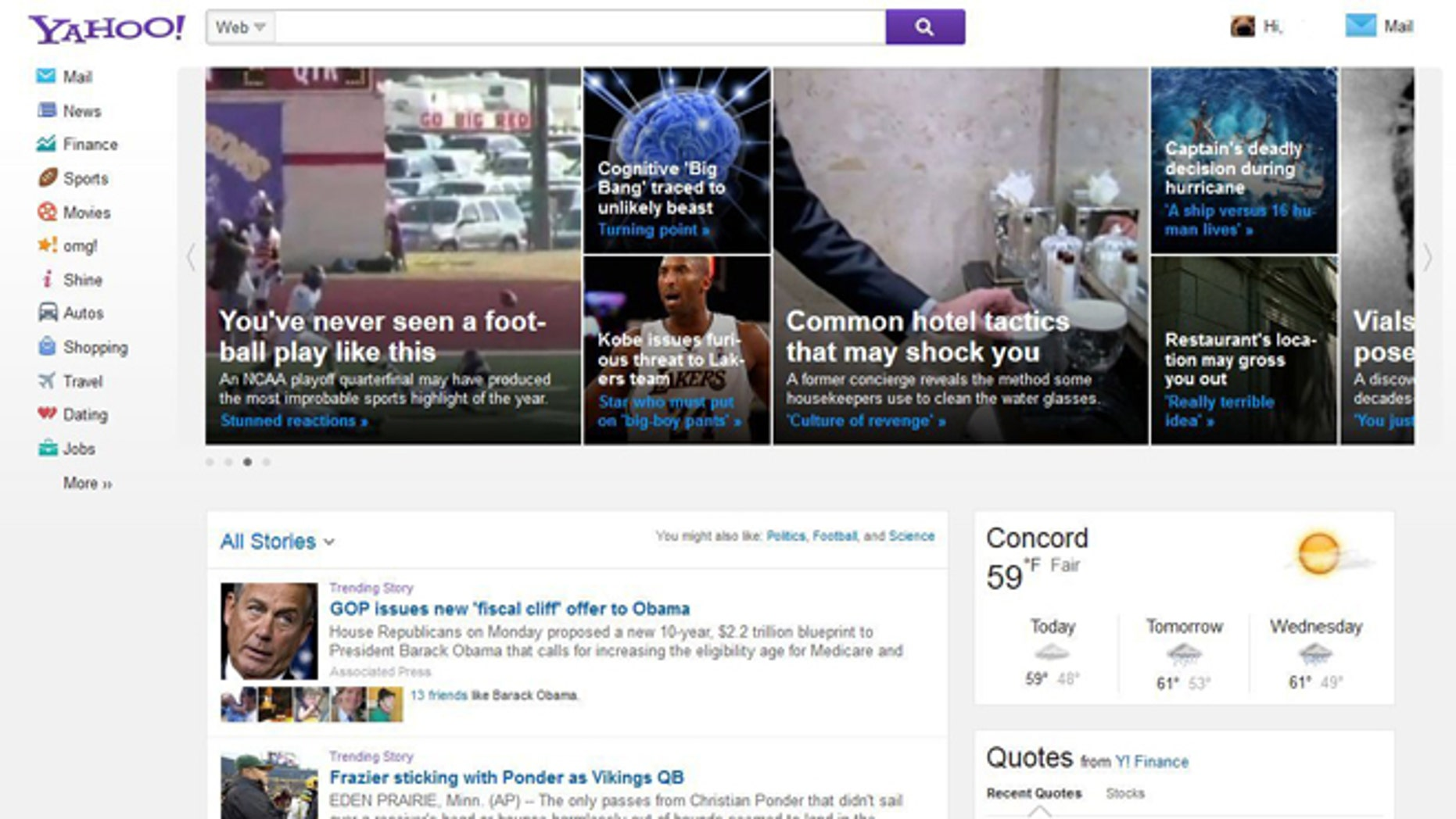 A new Yahoo homepage will boast an image-heavy tile layout, according to AllThingsD.com.
