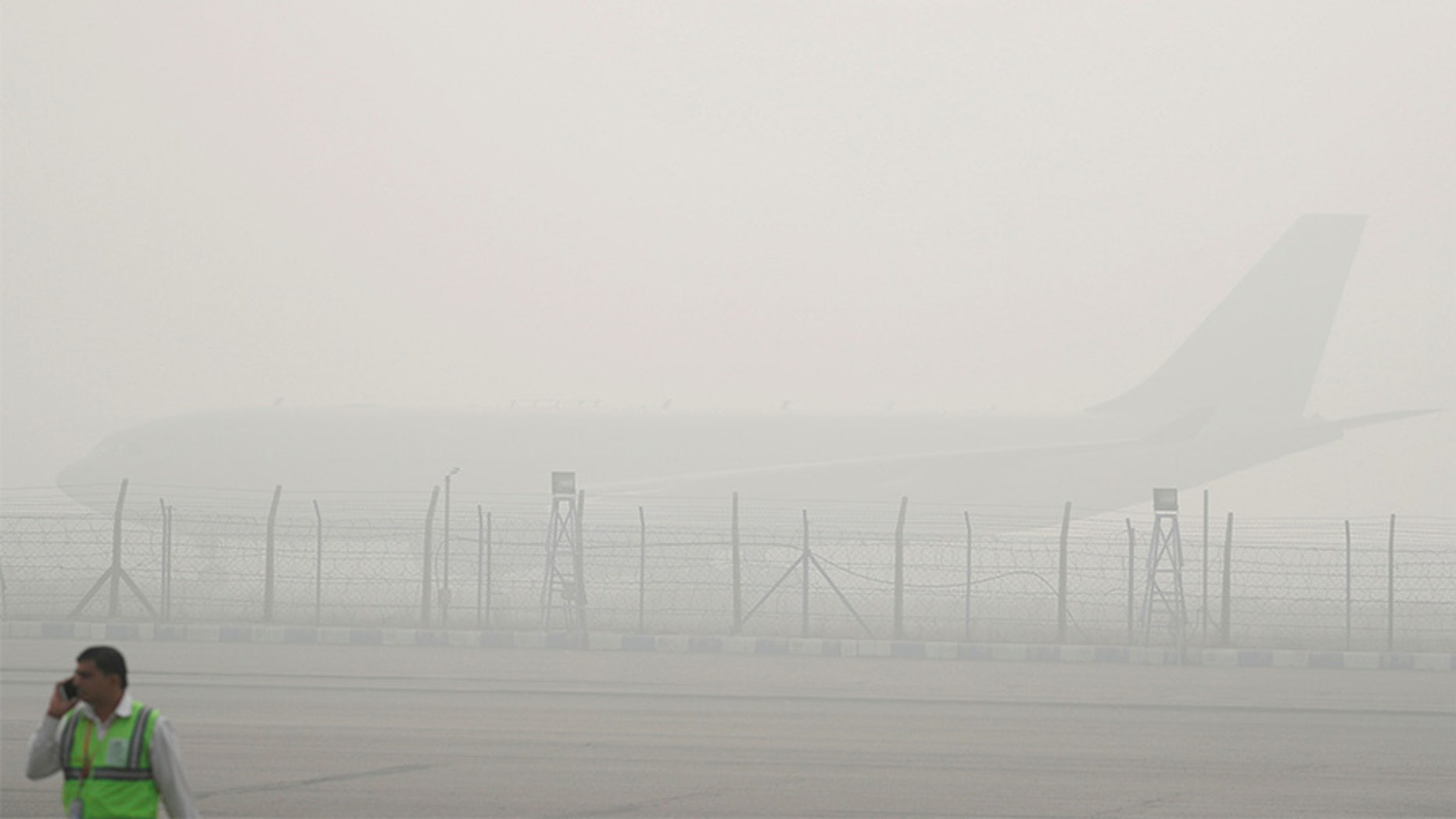 The airline has temporarily suspended flights to New Delhi as toxic smog enshrouds India's capital city.