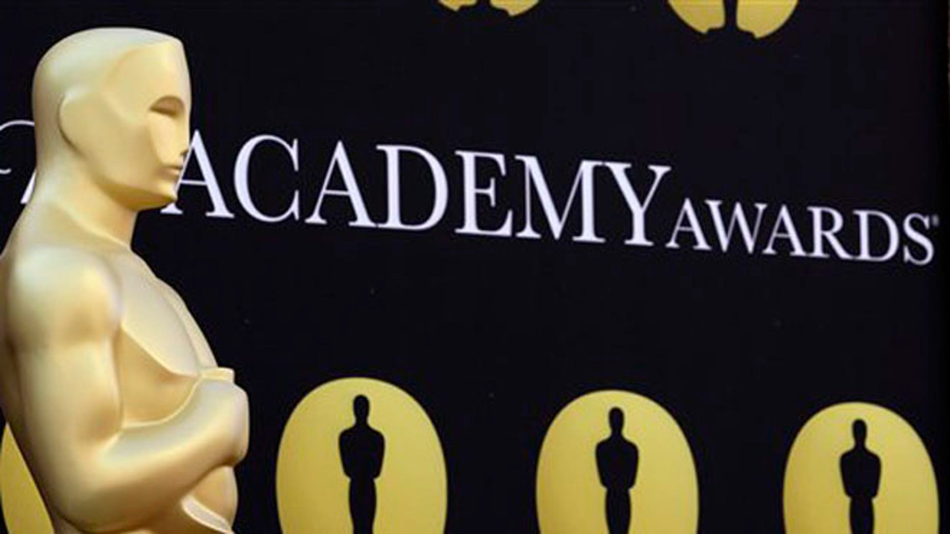 March 5, 2010: In this file photo, an Oscar statue stands on the red carpet outside the 82nd Academy Awards in Los Angeles, Calif.