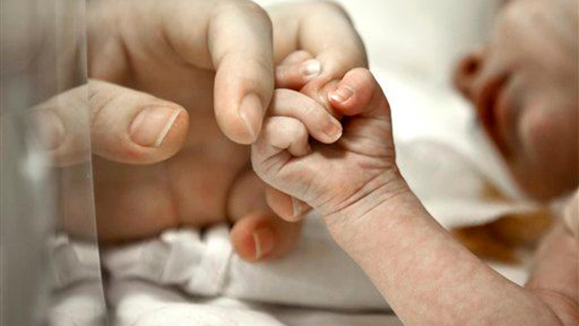 A stock photo of a newborn.