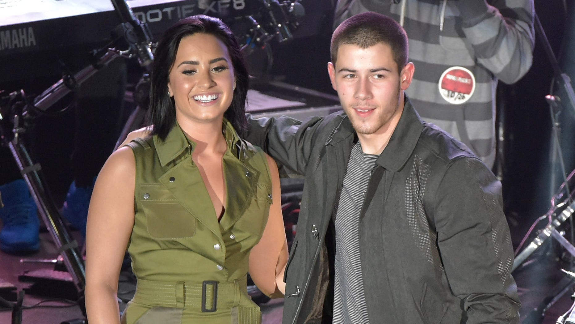 NEW YORK, NY - OCTOBER 26:  Demi Lovato & Nick Jonas Future Now: The Tour Preview at Irving Plaza on October 26, 2015 in New York City.  (Photo by Theo Wargo/Getty Images)
