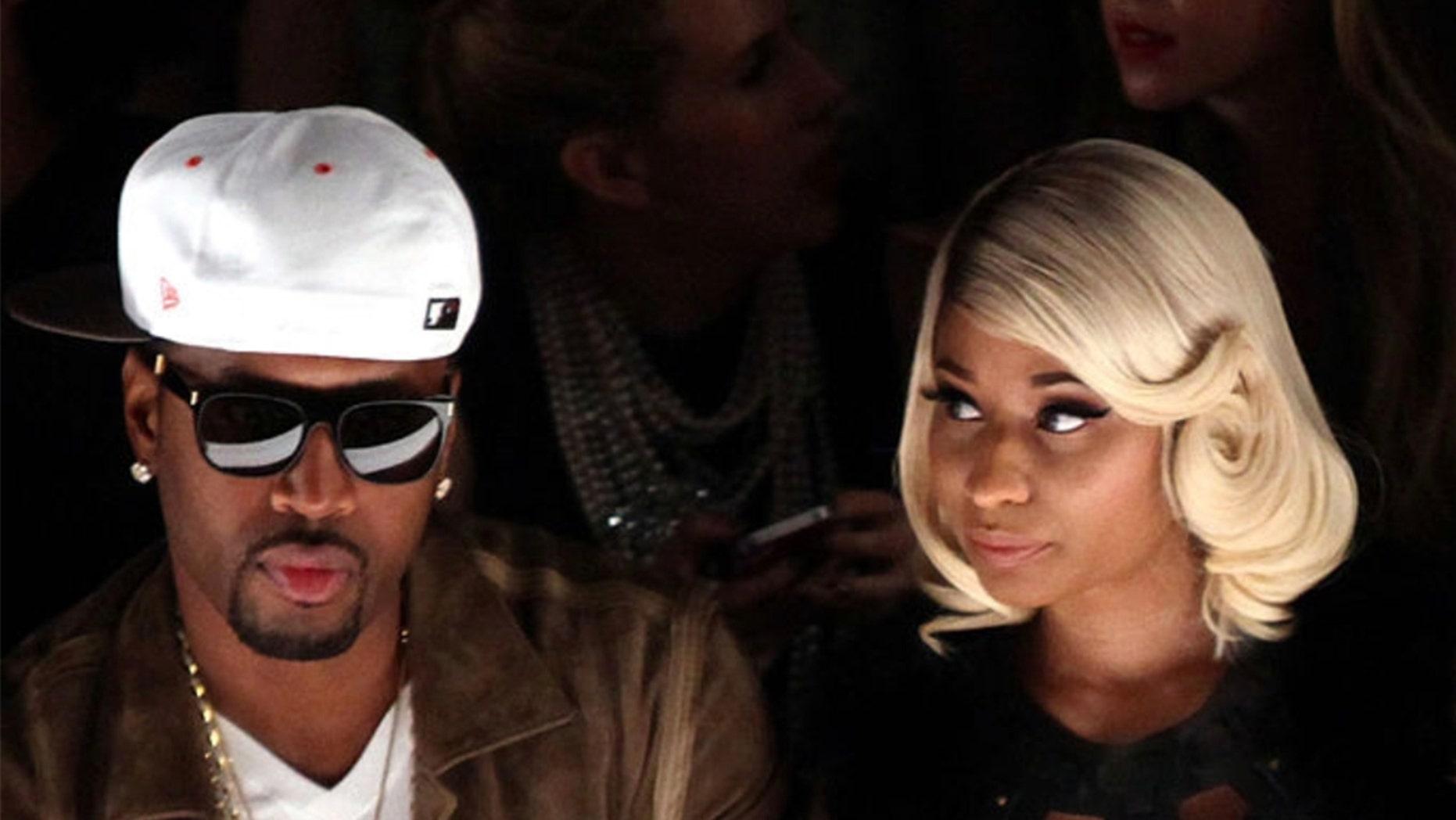 Nicki Minajs new boyfriend Kenneth Zoo Petty has the rappers name tattooed on his neck