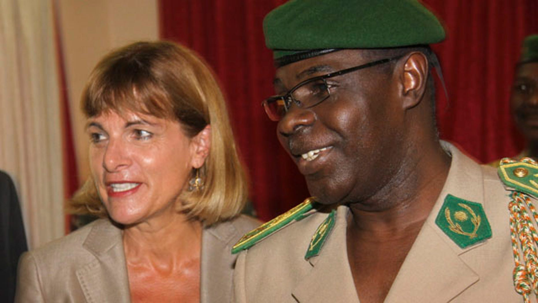 Sept. 30, 2010: Areva President Anne Lauvergeon, left, meets with Salou Djibo, head of Niger's ruling military junta, in Niamey, Niger.