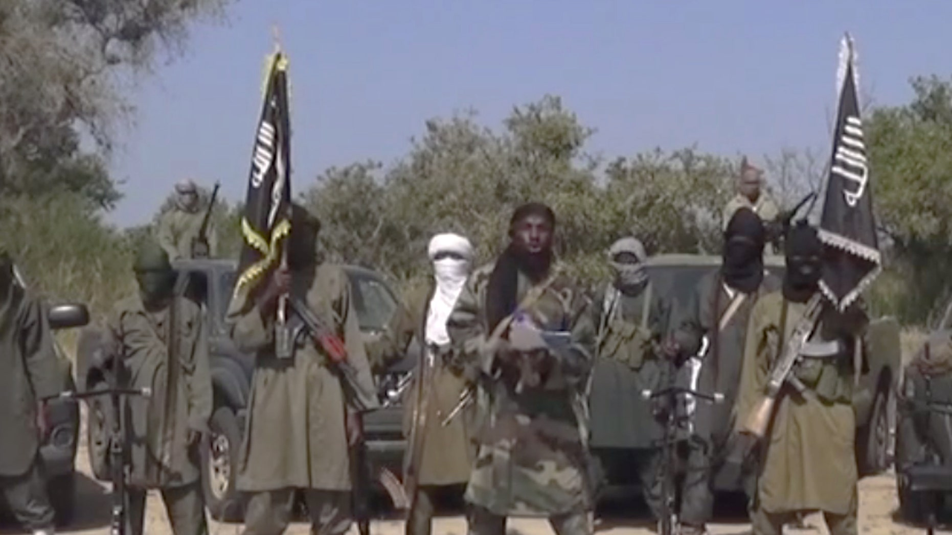 Oct. 31, 2014 - FILE photo of members of Nigeria's Islamic extremist group Boko Haram, Islamic extremists from Nigeria attacked a border town inside Niger, marking the 2nd foreign country attacked by the group in several days.