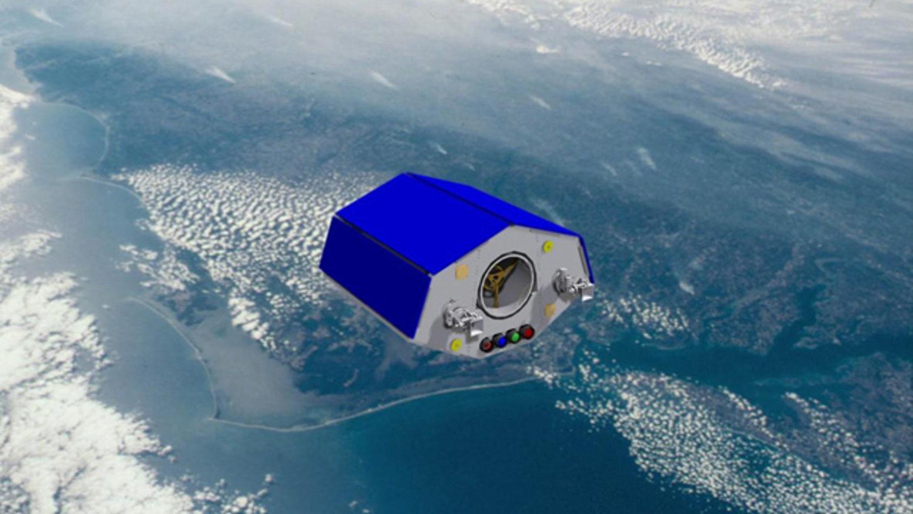 An artist's impression of NigeriaSat-2 in orbit.