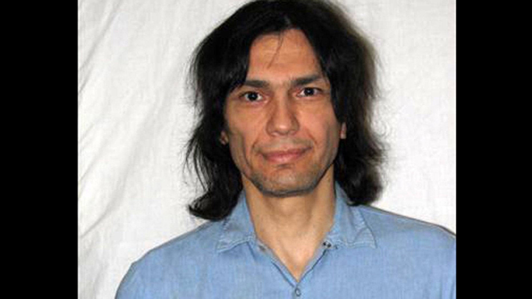 This photo released on Friday June 7, 2013, shows convicted killer Richard Ramirez as seen in this June 15, 2007, photo in San Quentin State Prison in Marine County, Calif. California corrections officials say convicted serial killer Ramirez, known as the Night Stalker, has died.