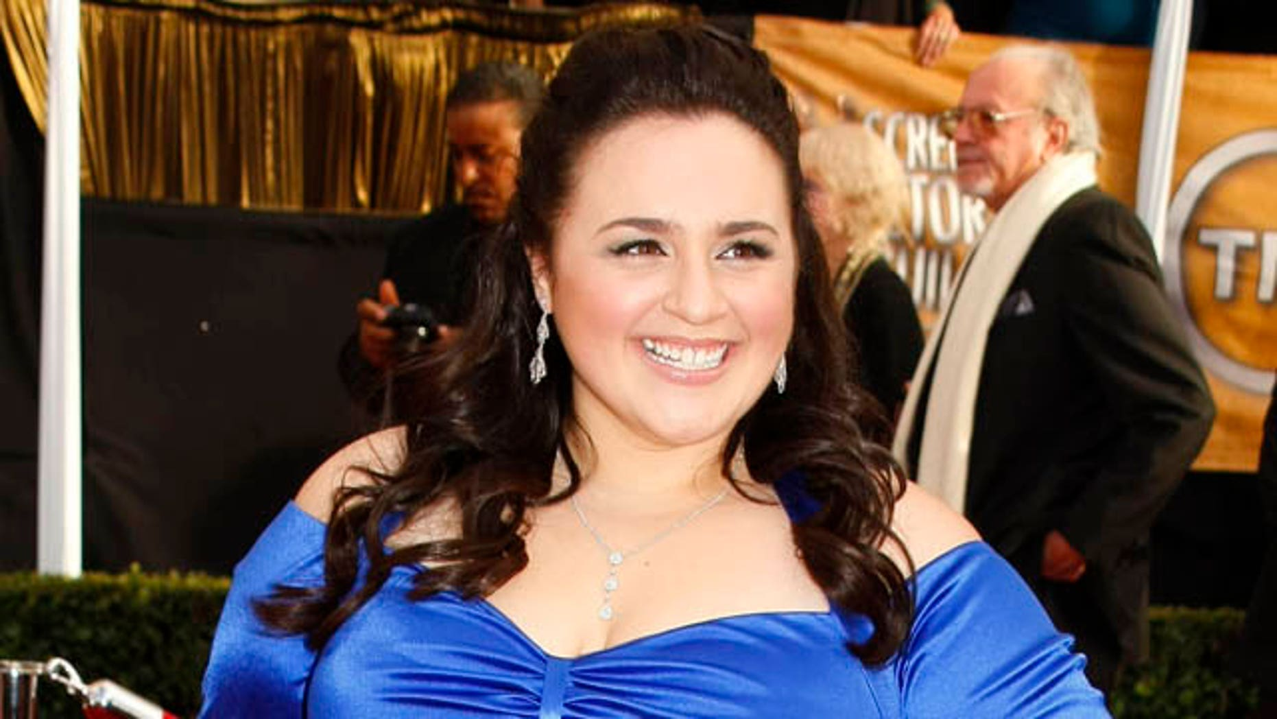 "Actress Nikki Blonsky from the film ""Hairspray'' arrives at the 14th annual Screen Actors Guild Awards in Los Angeles January 27, 2008.  REUTERS/Mike Blake    (UNITED STATES)"