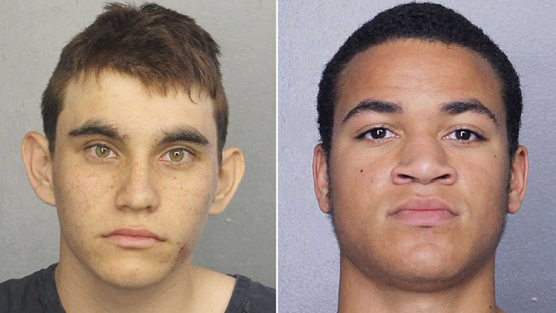 "Zachary Cruz (right), 18, was arrested Monday after he ""unlawfully entered the school grounds"" of Marjory Stoneman Douglas High School, the same school his brother, Nikolas Cruz (left), is accused if entering and gunning down 17 people."