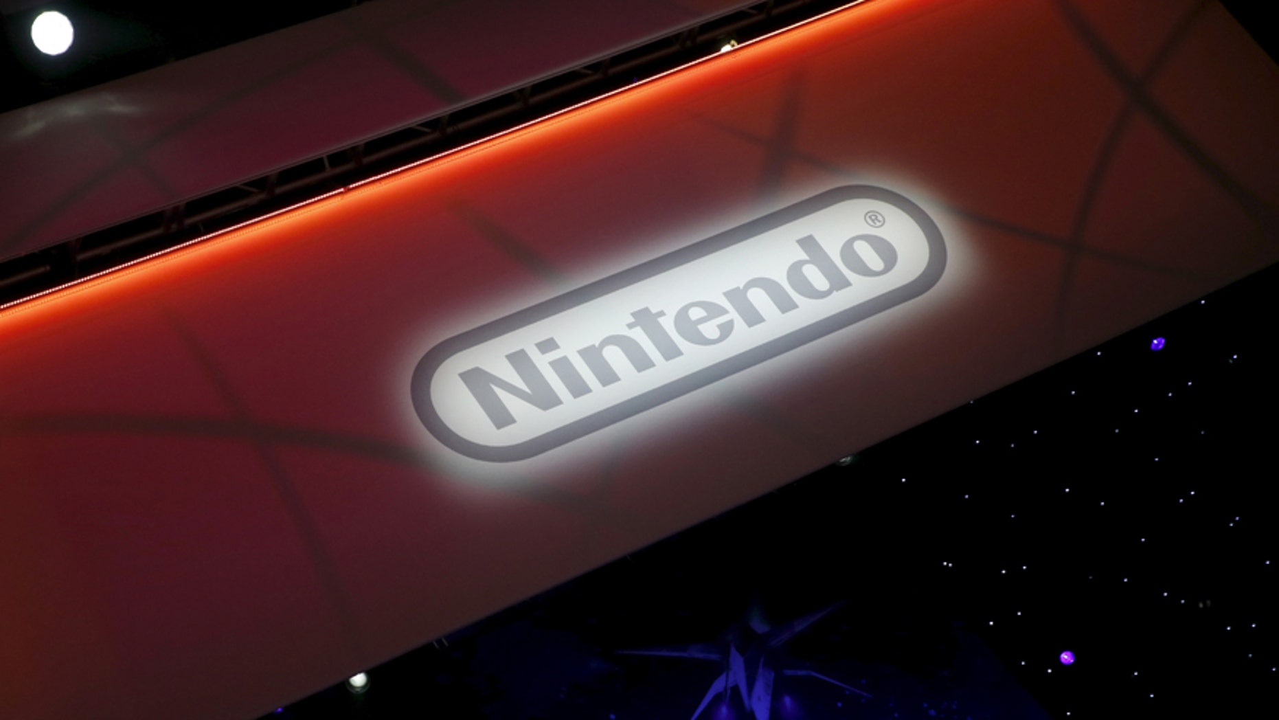 A Nintendo video game logo is seen at the Electronic Entertainment Expo, or E3, in Los Angeles, Calif., United States, June 17, 2015.