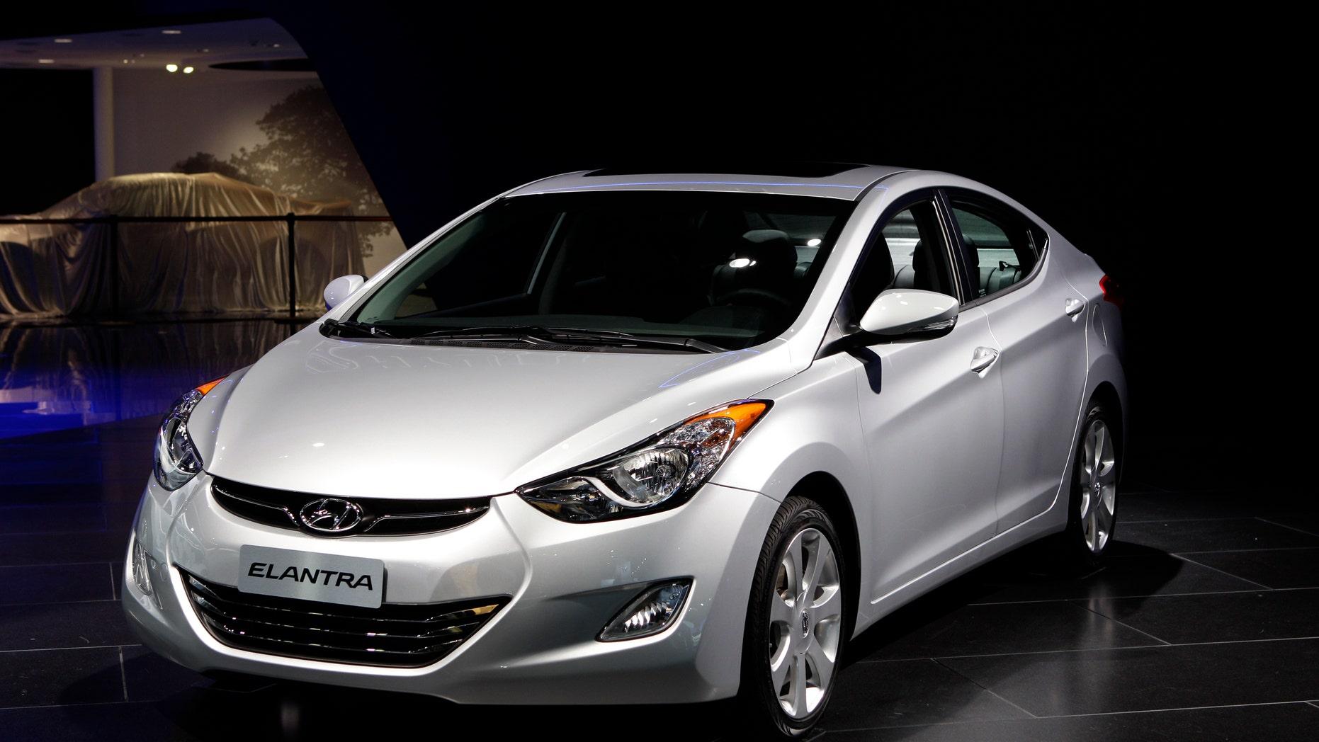 The 2012 Hyundai Elantra at the North American International Auto Show in Detroit. (AP Photo/Paul Sancya, File)