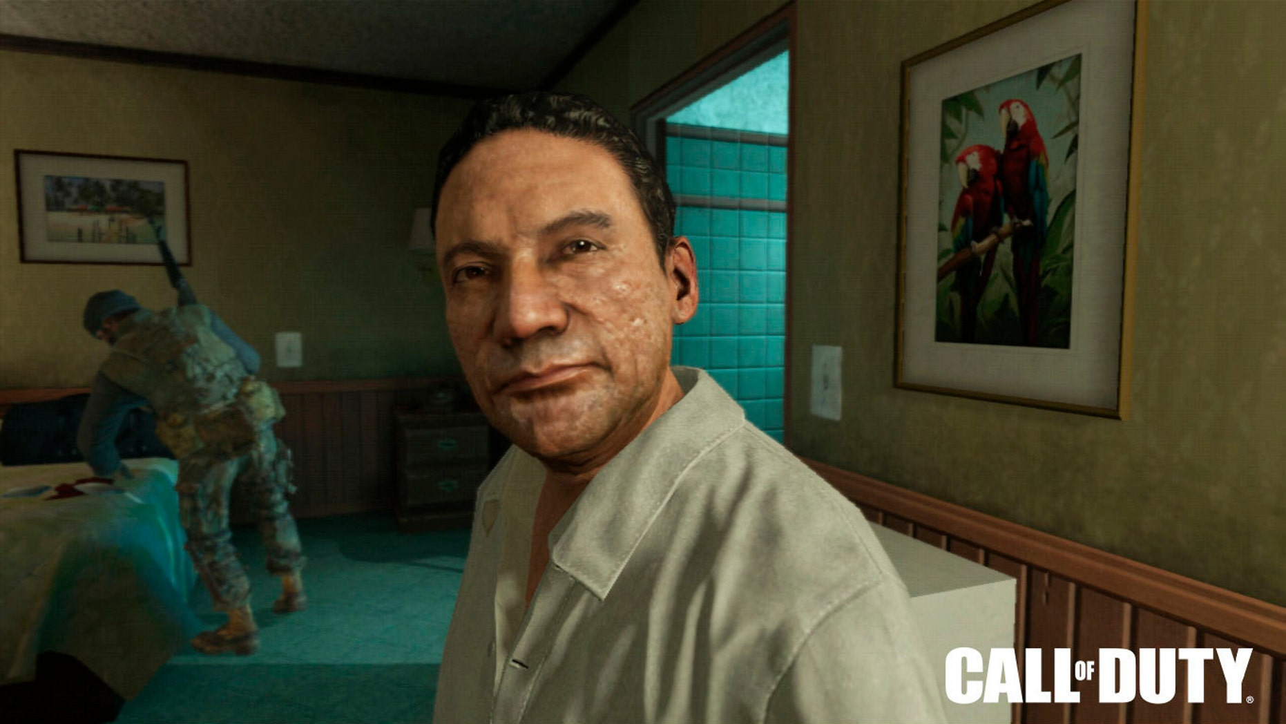 """This image provided by Activision Blizzard Inc. shows Manuel Noriega as depicted in the game publisher's 2012 game, """"Call of Duty: Black Ops II."""""""