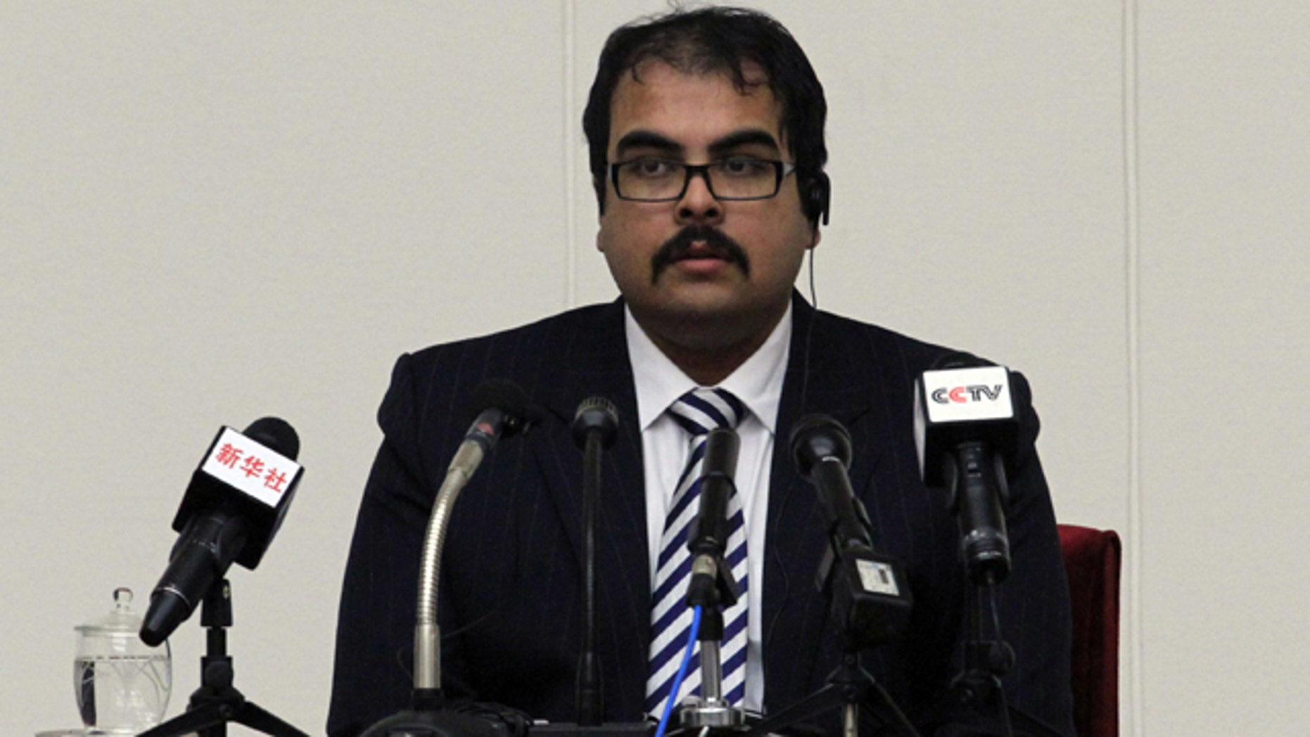 Dec. 14, 2014: Arturo Pierre Martinez, 29, speaks at a press conference at the Peoples Palace of Culture in Pyongyang, North Korea. North Korea on Sunday presented to the media the American, who says he illegally crossed into the country but has not been held in custody and is seeking asylum in Venezuela. (AP Photo/Kim Kwang Hyon)