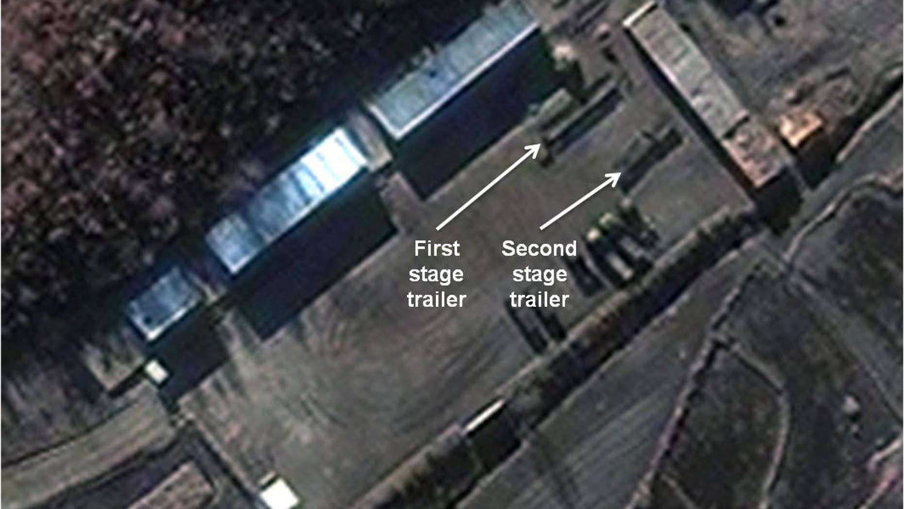 Nov. 26, 2012 - Satellite image provided by DigitalGlobe shows Sohae Satellite Launch Station in Cholsan Co, North Pyongan Province, N Korea.