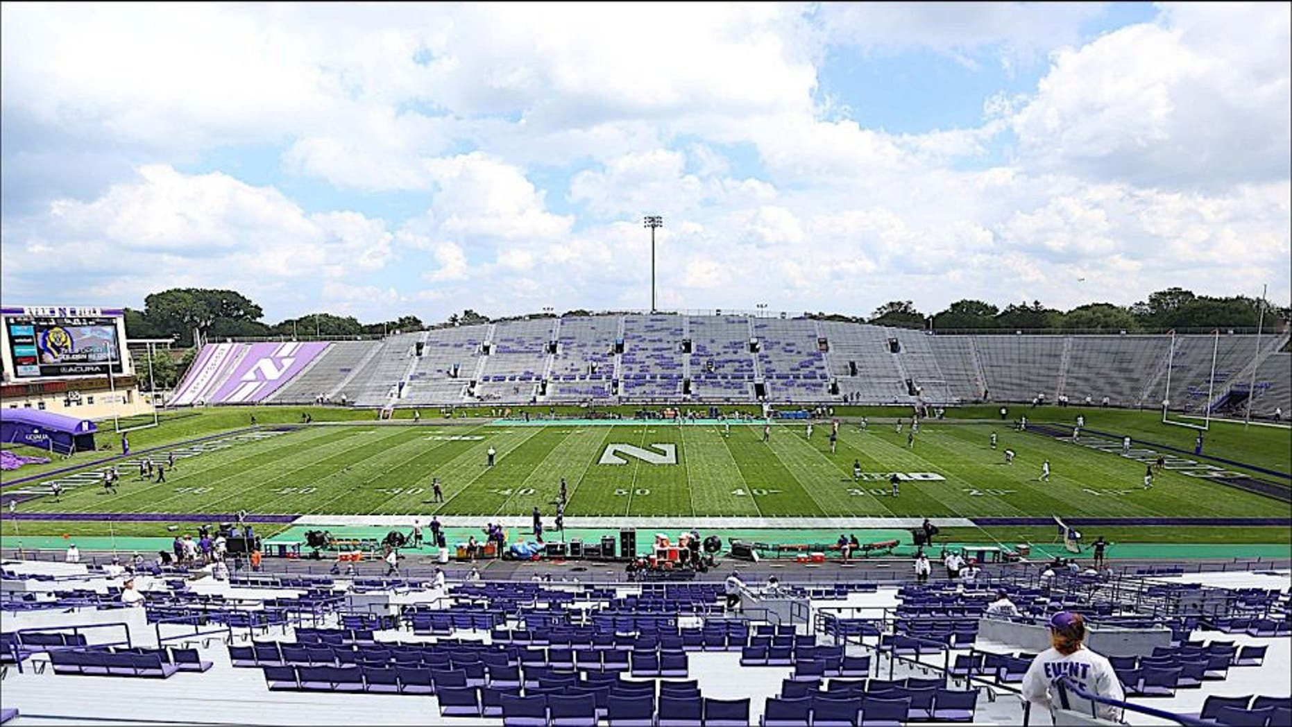 Aug 30, 2014; Evanston, IL, USA; A general view of Ryan Field prior to a game between the Northwestern Wildcats and the California Golden Bears. Mandatory Credit: Dennis Wierzbicki-USA TODAY Sports