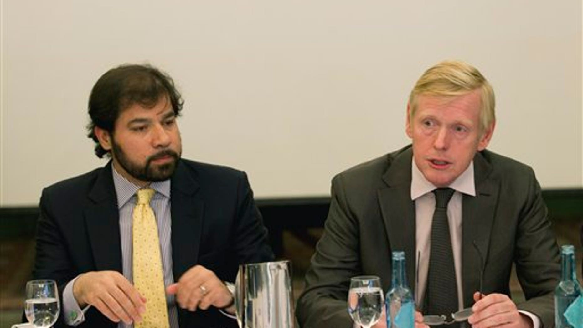 September 30: Afghanistan's Deputy Foreign Minister Jawed Ludin, left, and representative of the Norwegian Ministry of Foreign Affairs Kare Aas during their meeting in Oslo, Norway.