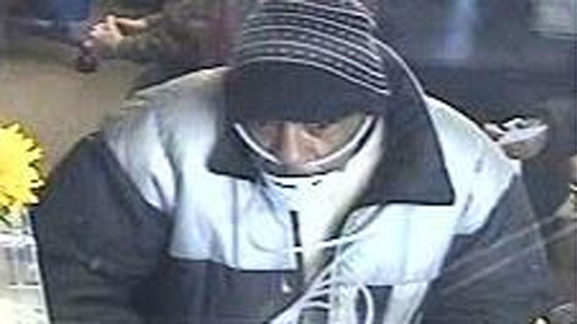 Dec. 7: Suspect in robbery of Chase Bank in Denver.