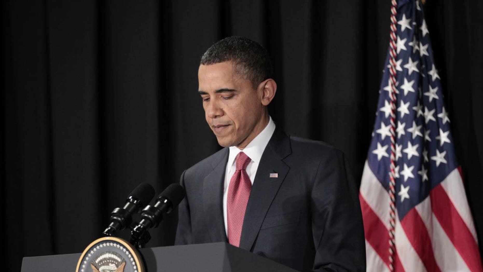 President Obama makes a statement on Libya from Brazil