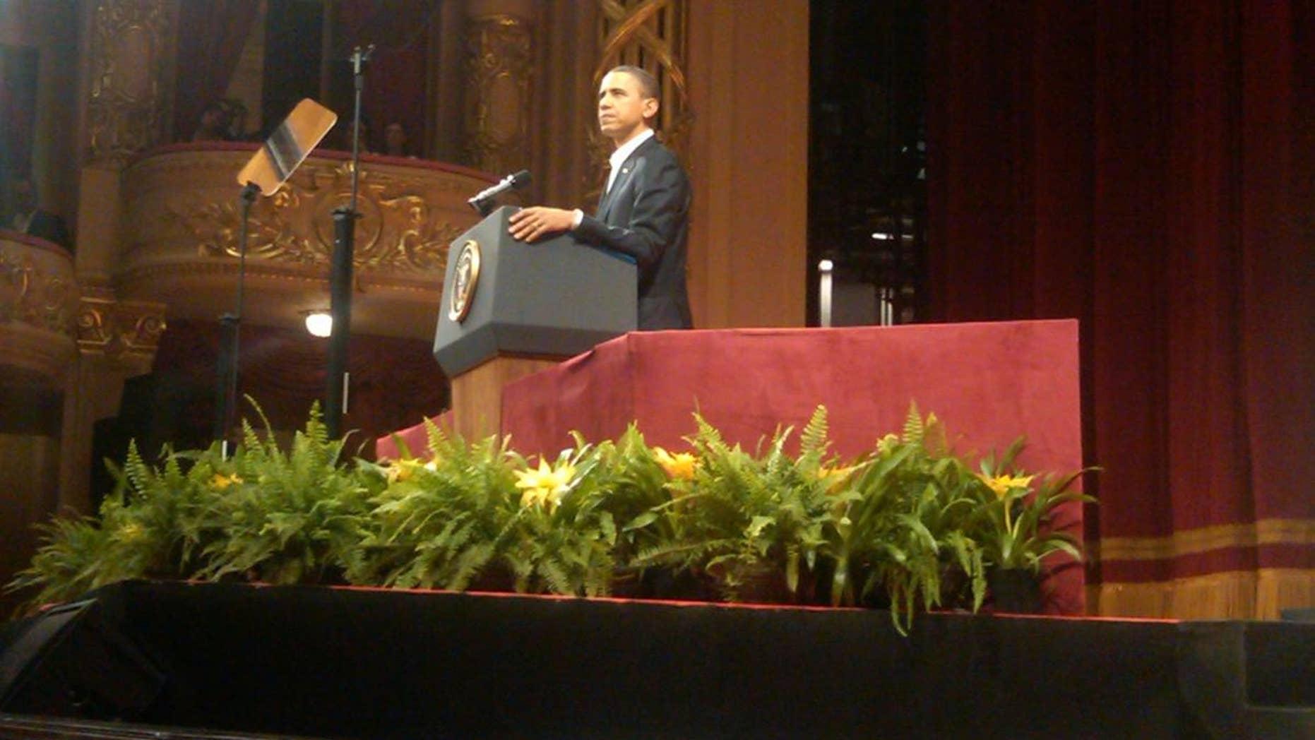 President Obama speaks at the Theatro Municipal in Rio de Janeiro/Fox News Photo