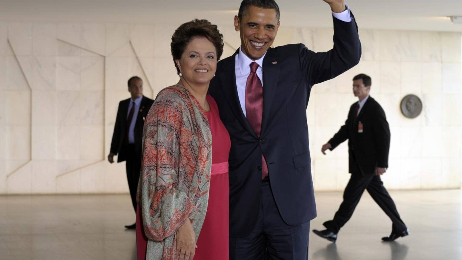 AP Image/Presidents Rousseff and Obama in Brazil Saturday March 19, 2011