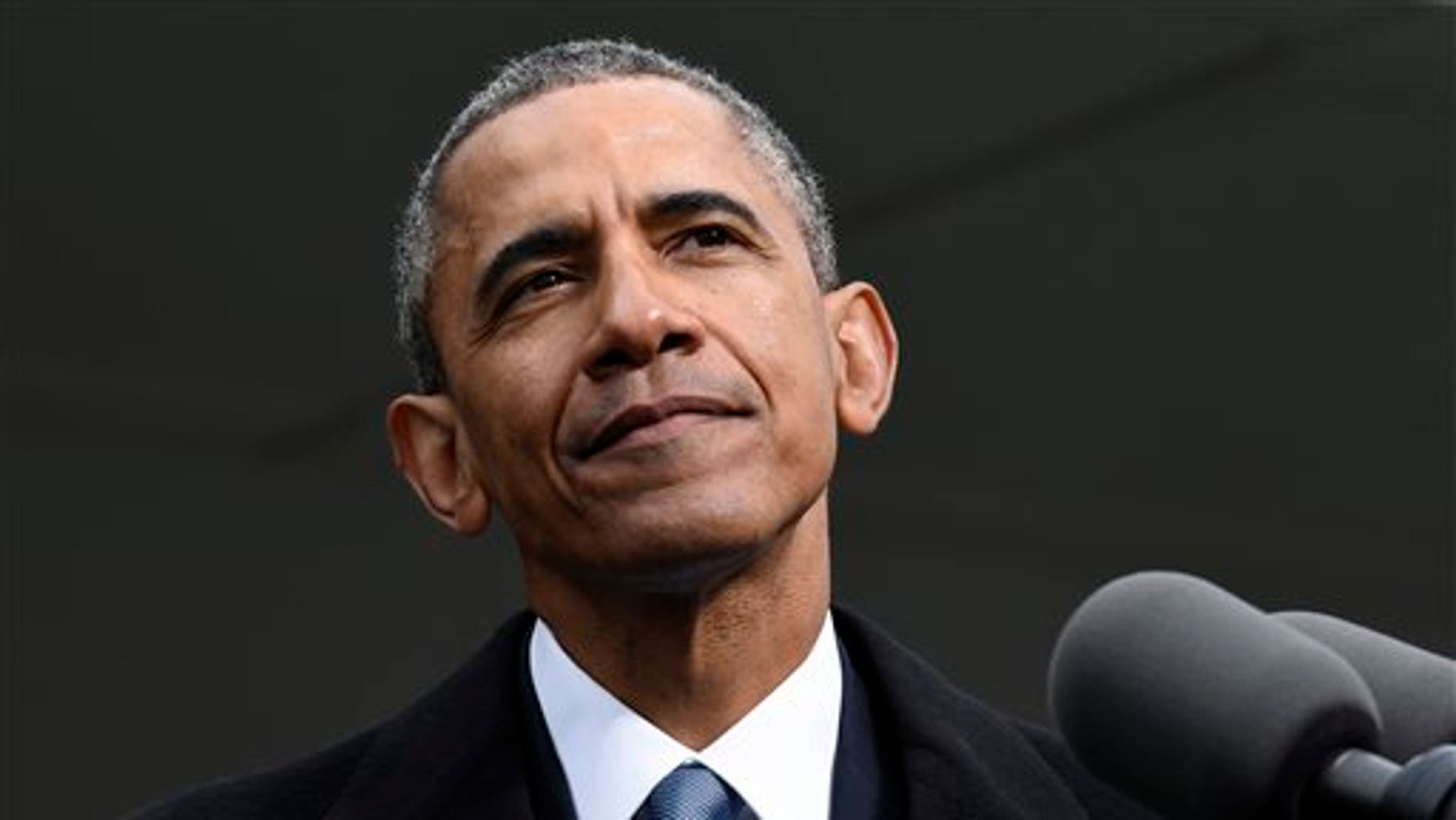 President Obama speaks at dedication of the Edward M. Kennedy Institute for the United States Senate in Boston, Monday, March 30, 2015. (AP Photo/Susan Walsh)