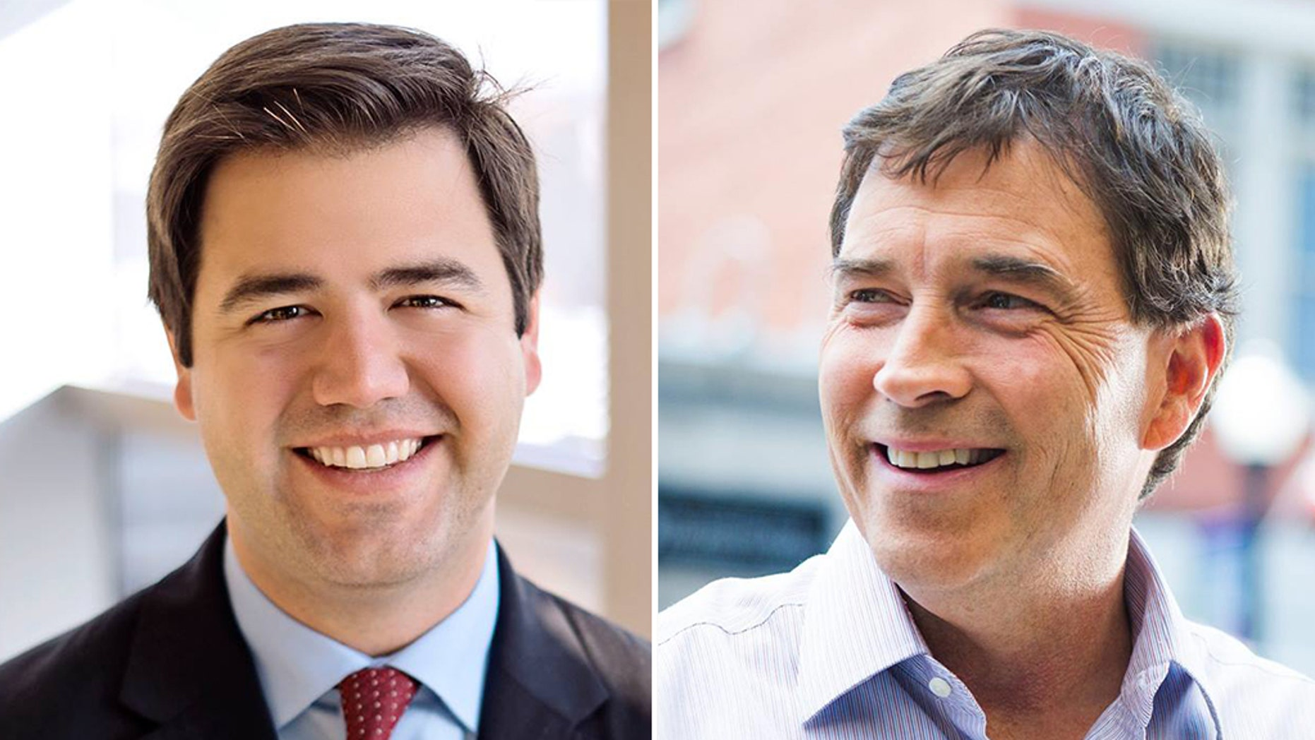 Polls suggest a close race between Democrat Danny O'Connor, left, and Republican Troy Balderson.