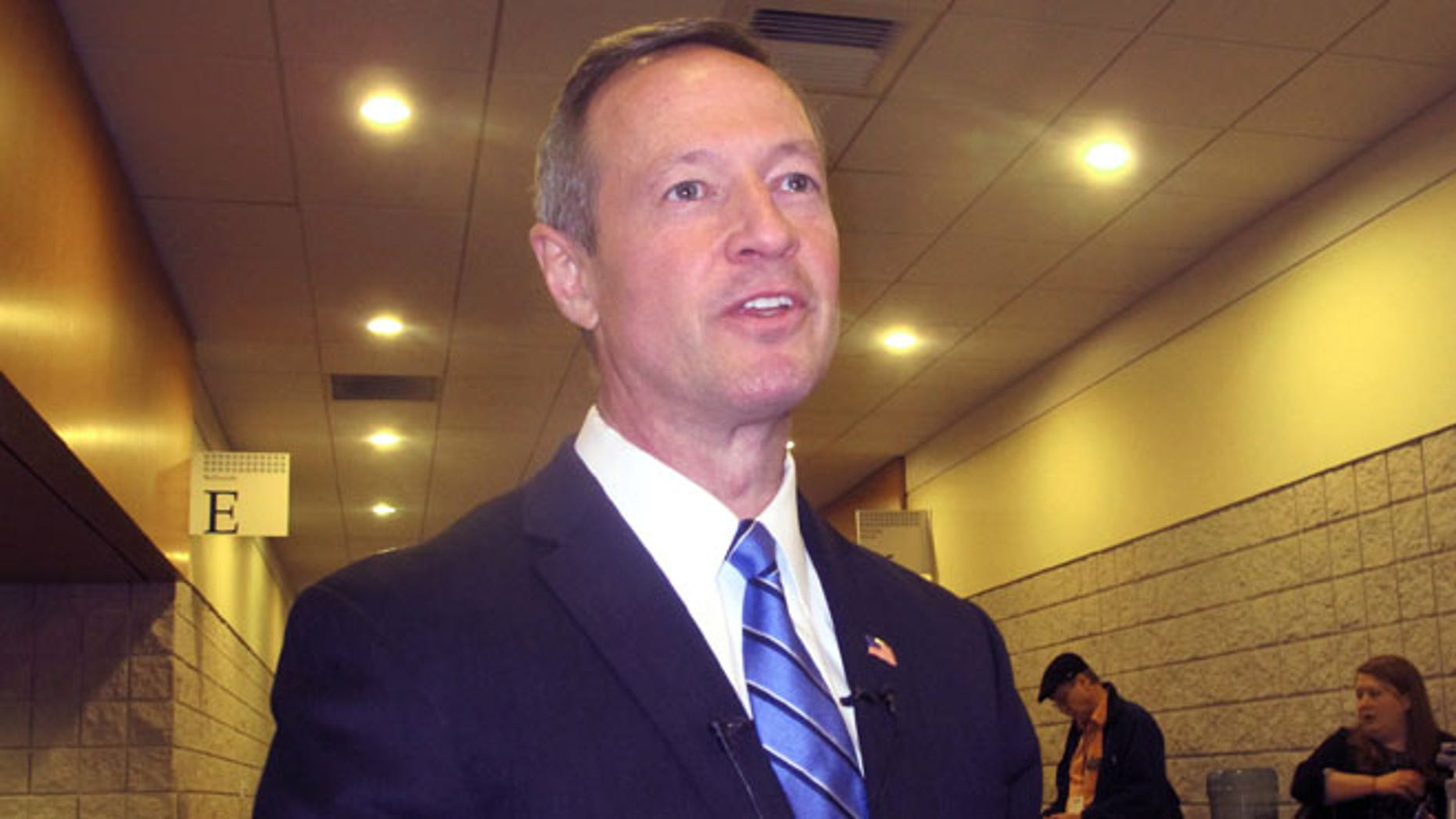 FILE: Feb. 28, 2014: Former Maryland Gov. Martin O'Malley at a conference hosted by the South Carolina Democratic Party in Myrtle Beach, S.C.