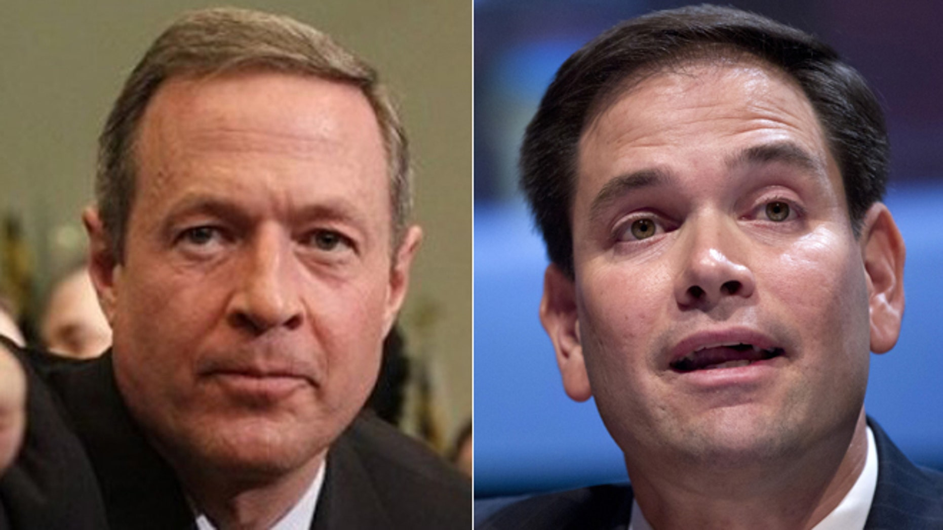 FILE: Maryland Gov. Martin O'Malley, a Democrat, and Florida Sen. Marco Rubio, Republican, are among the most talked about, potential 2016 presidential candidates.