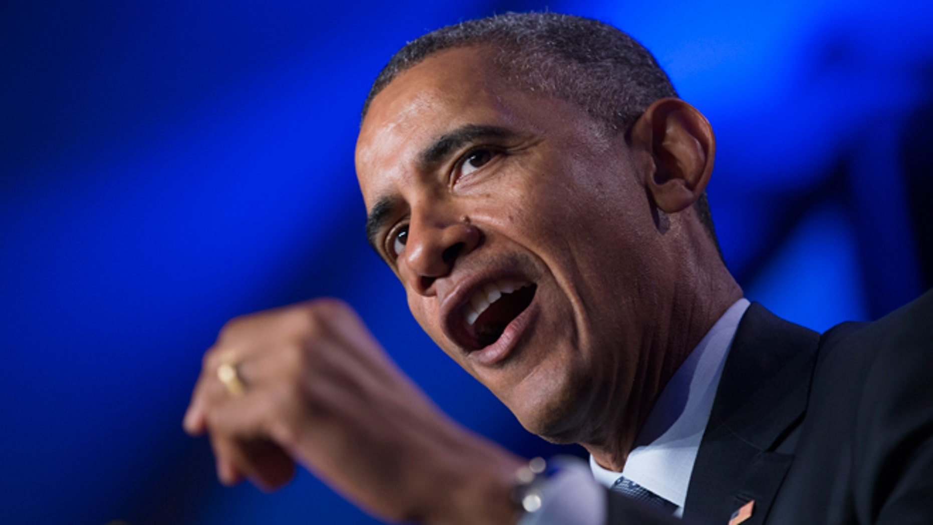 FILE - Feb. 20, 2015: President Obama speaks in Washington.