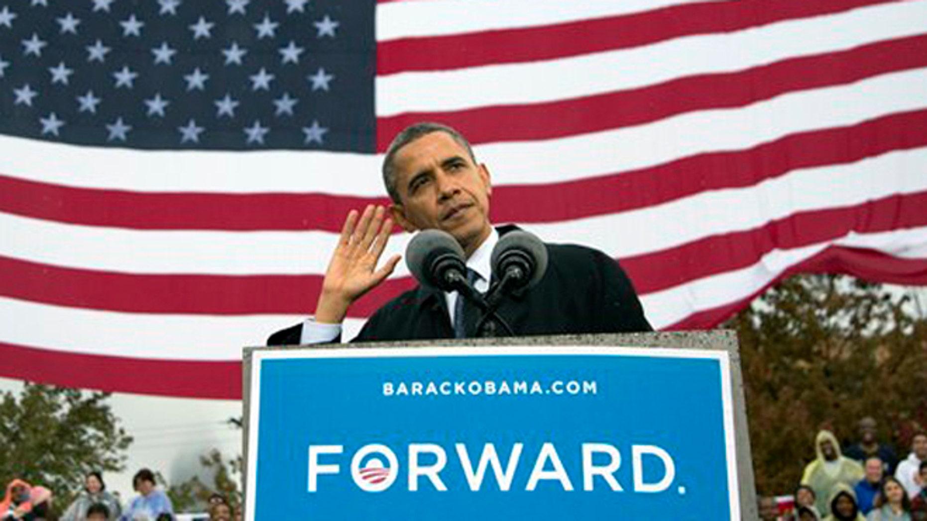 El presidente Barack Obama habla durante un acto de campaña en la Universidad Estatal de Cleveland, el viernes 5 de octubre de 2012, en Cleveland. (Foto AP/Carolyn Kaster)