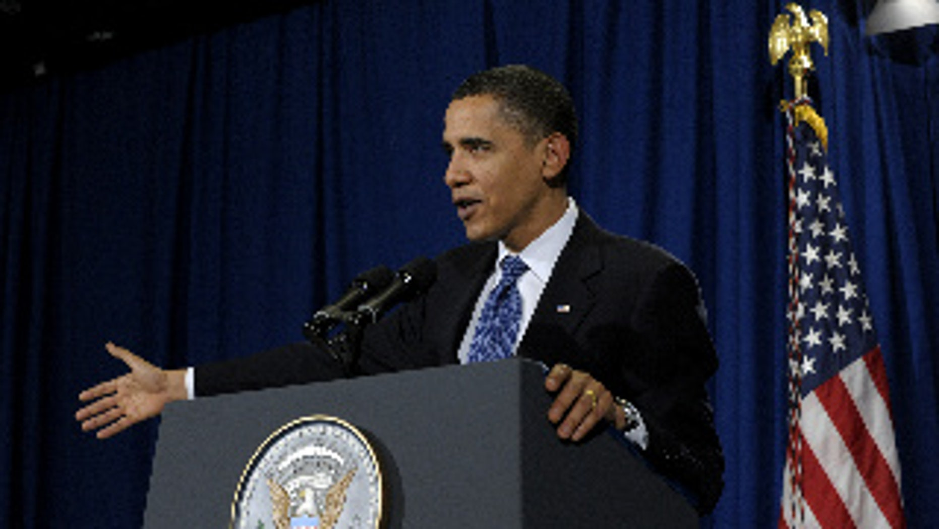President Obama holds a press conference in Copenhagen (AP Photo)