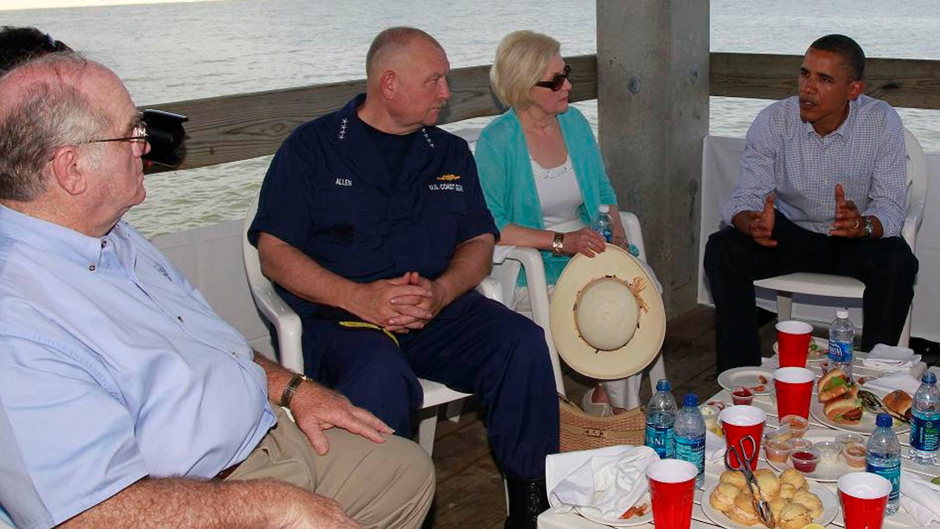 June 14: President Obama and National Incident Commander Thad Allen meet with residents affected by the BP Deepwater Horizon oil spill in Gulfport, Miss.