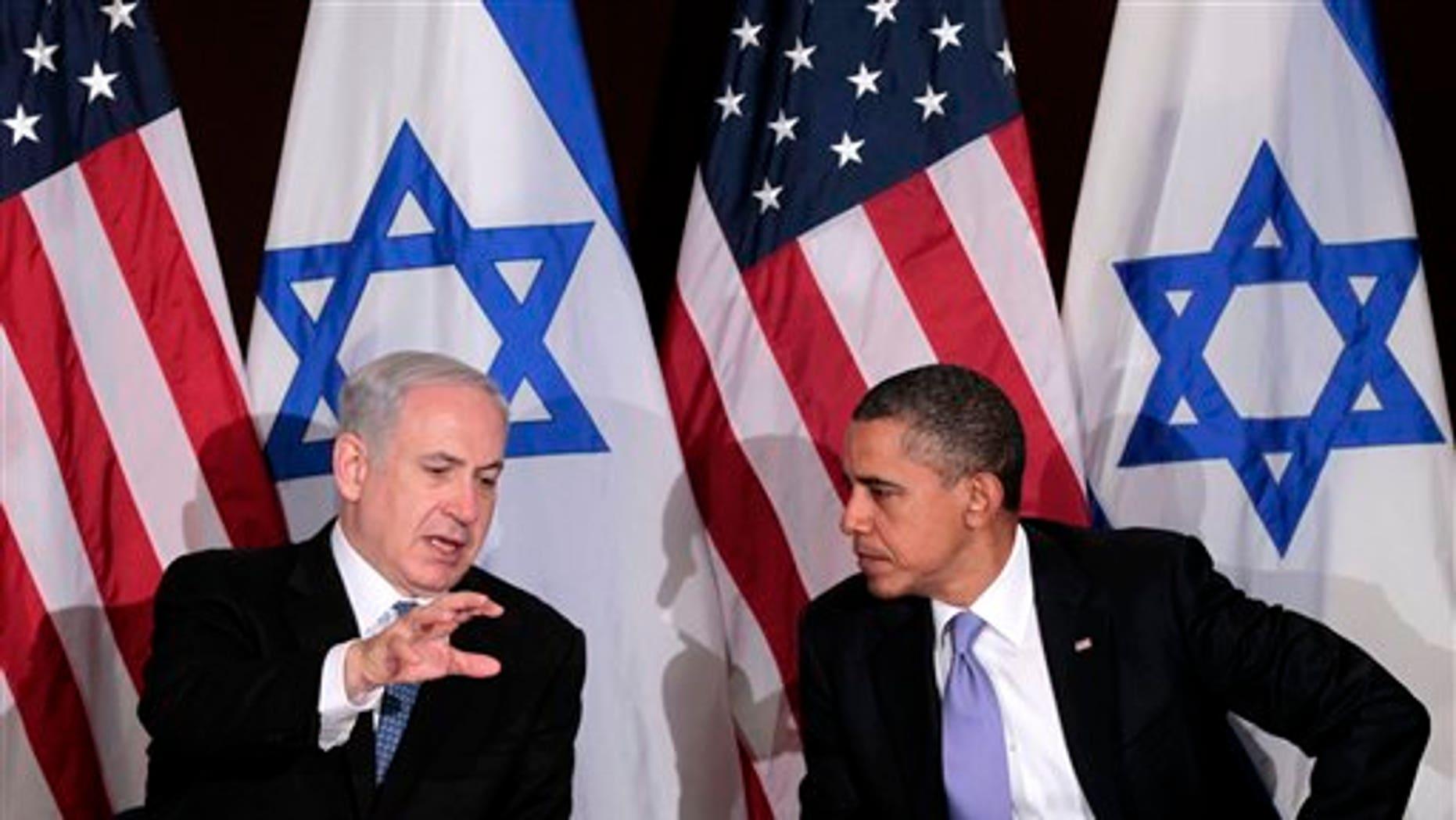 September 21: President Barack Obama meets with Israeli Prime Minister Benjamin Netanyahu at the UN Building in New York.