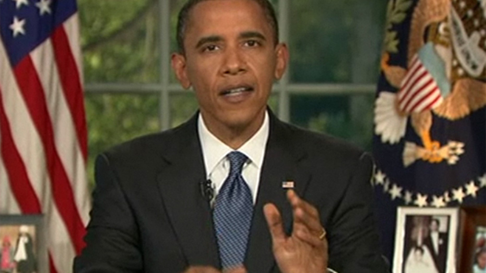 June 15, 2010: President Obama speaks from the Oval Office on the BP oil spill in the Gulf of Mexico.