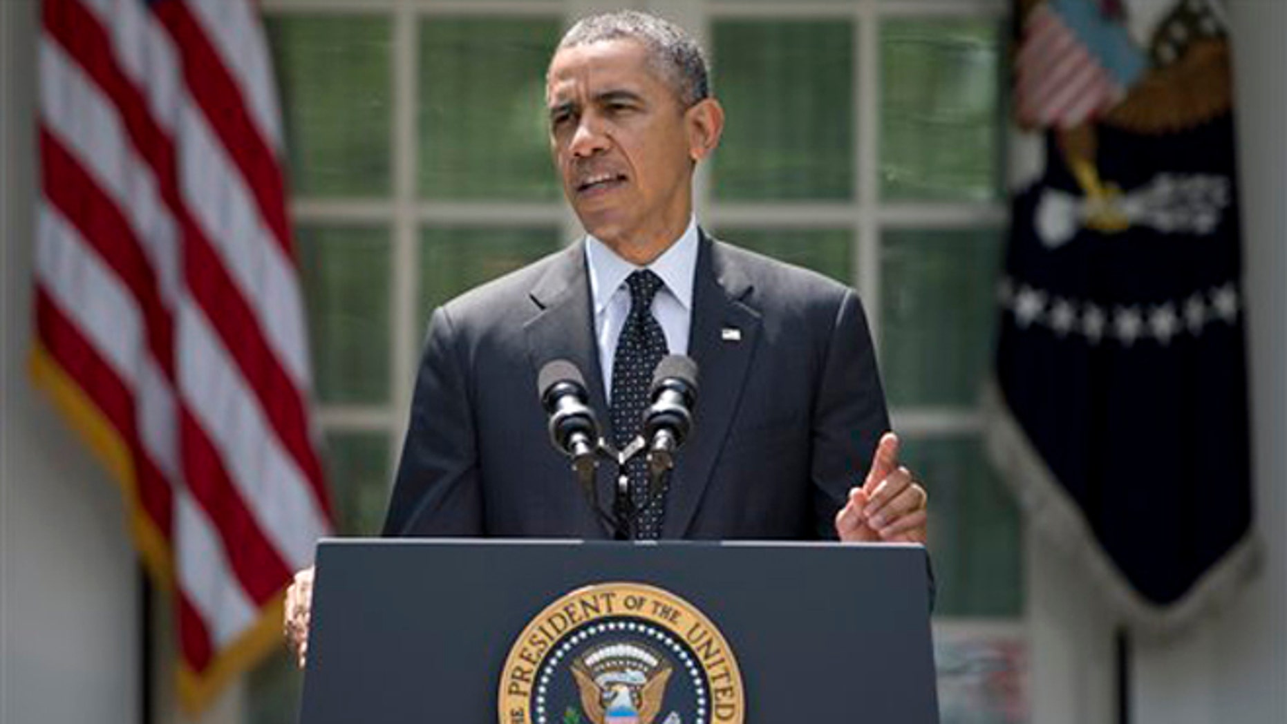 President Barack Obama speaks about the future of US troops in Afghanistan, Tuesday, May 27, 2014.