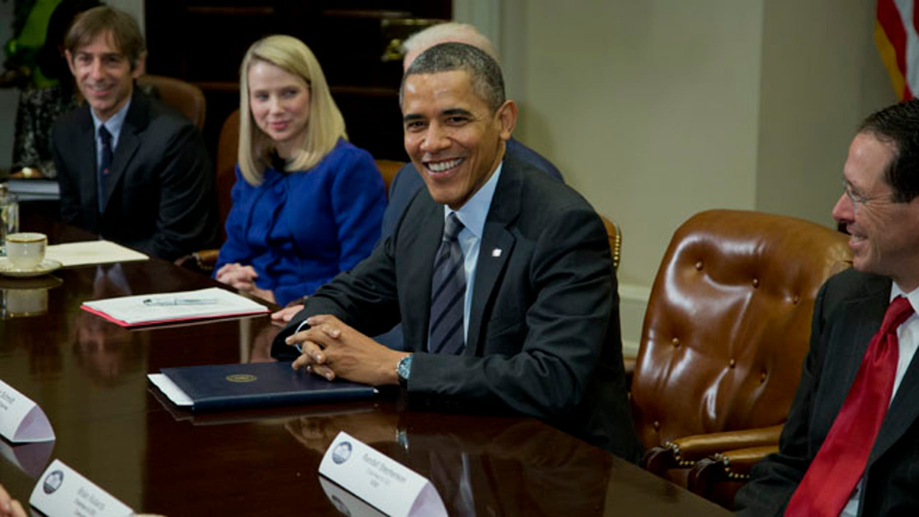 President Obama meets with technology executives at the White House in Washington, Tuesday, Dec. 17, 2013.