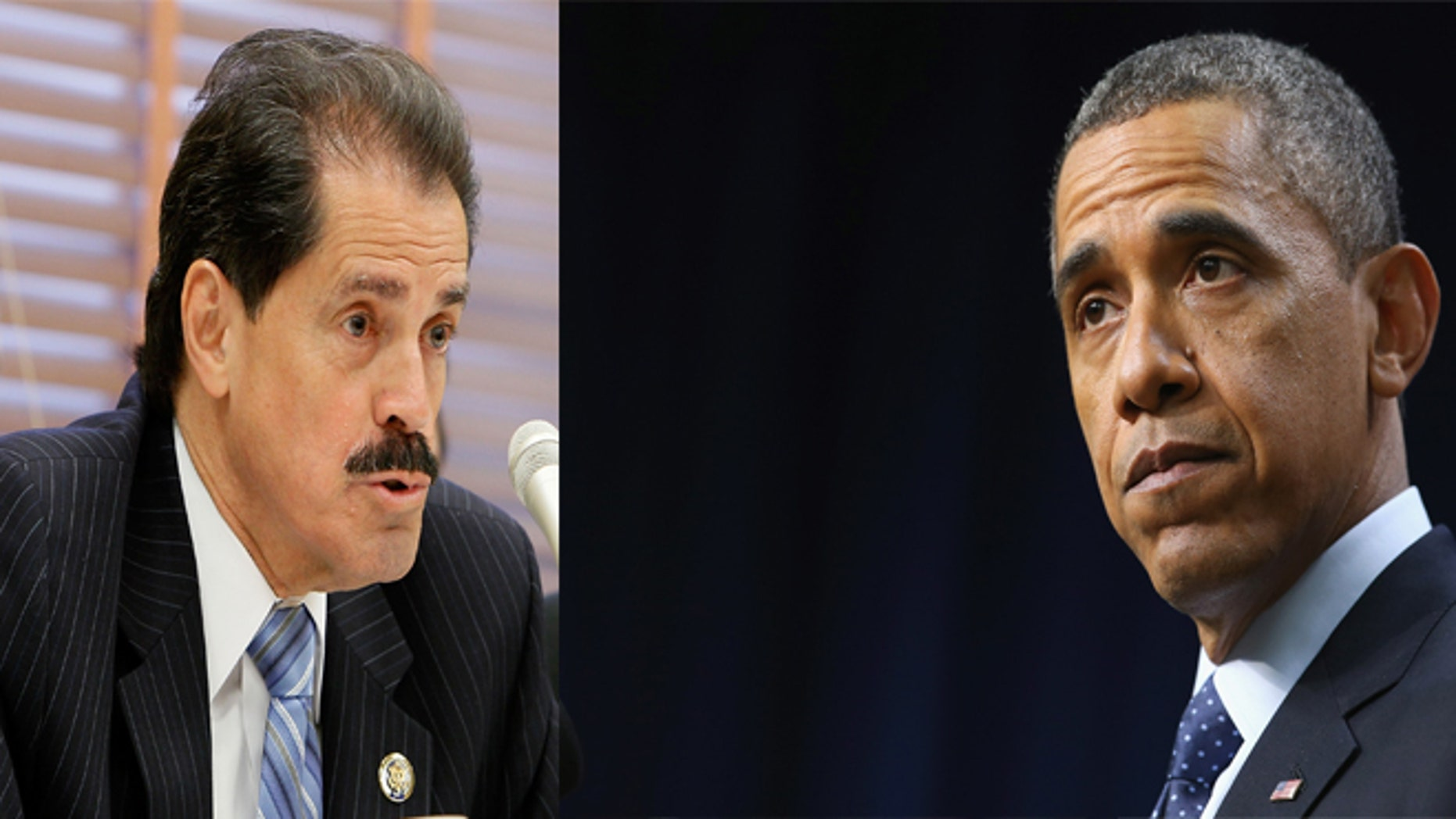 José Serrano (left) and President Barack Obama (right).