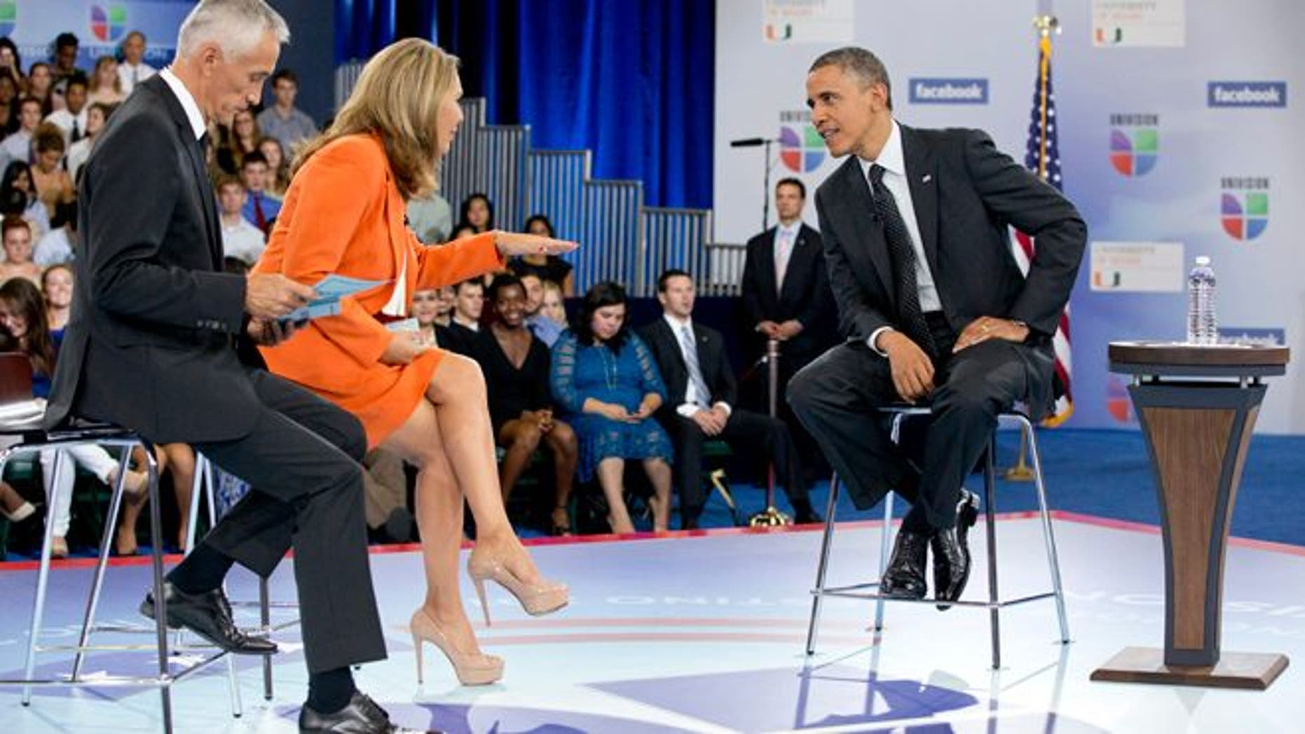 Sept. 20, 2012: President Obama participates in a town hall hosted by Univision at the University of Miami.