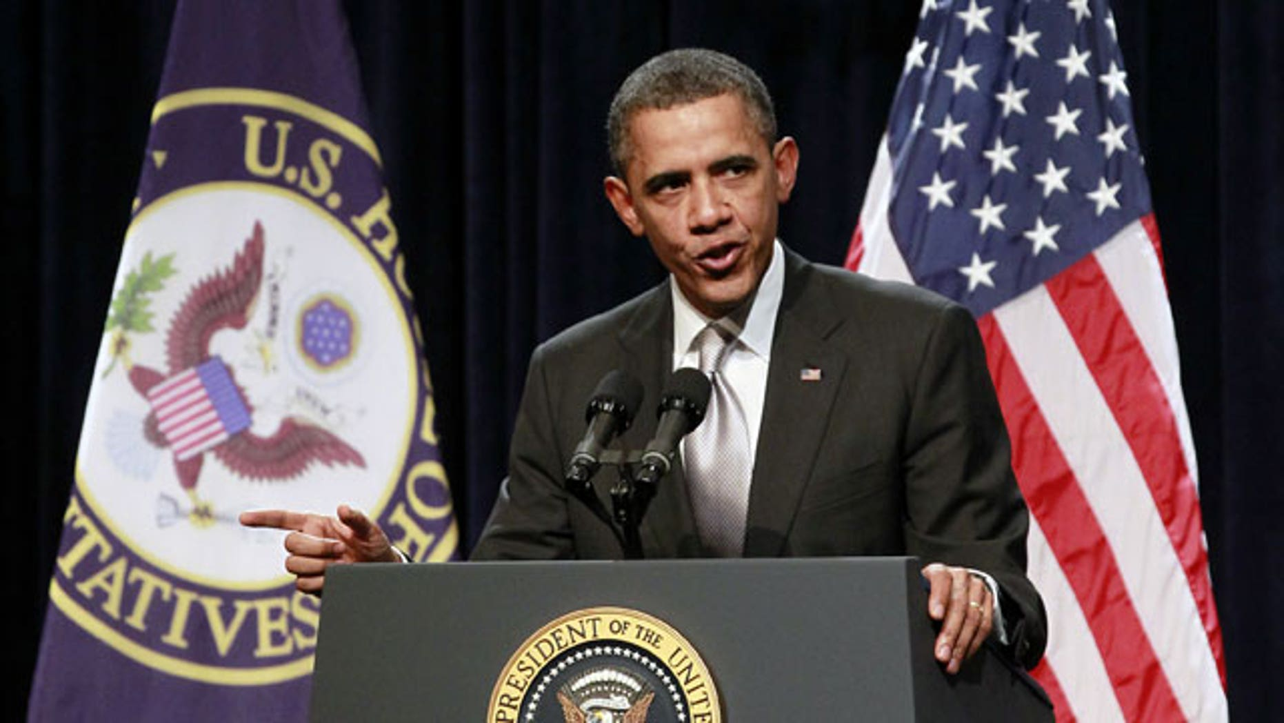 January 27, 2012: President Barack Obama speaks at the House Democratic Issues Conference.