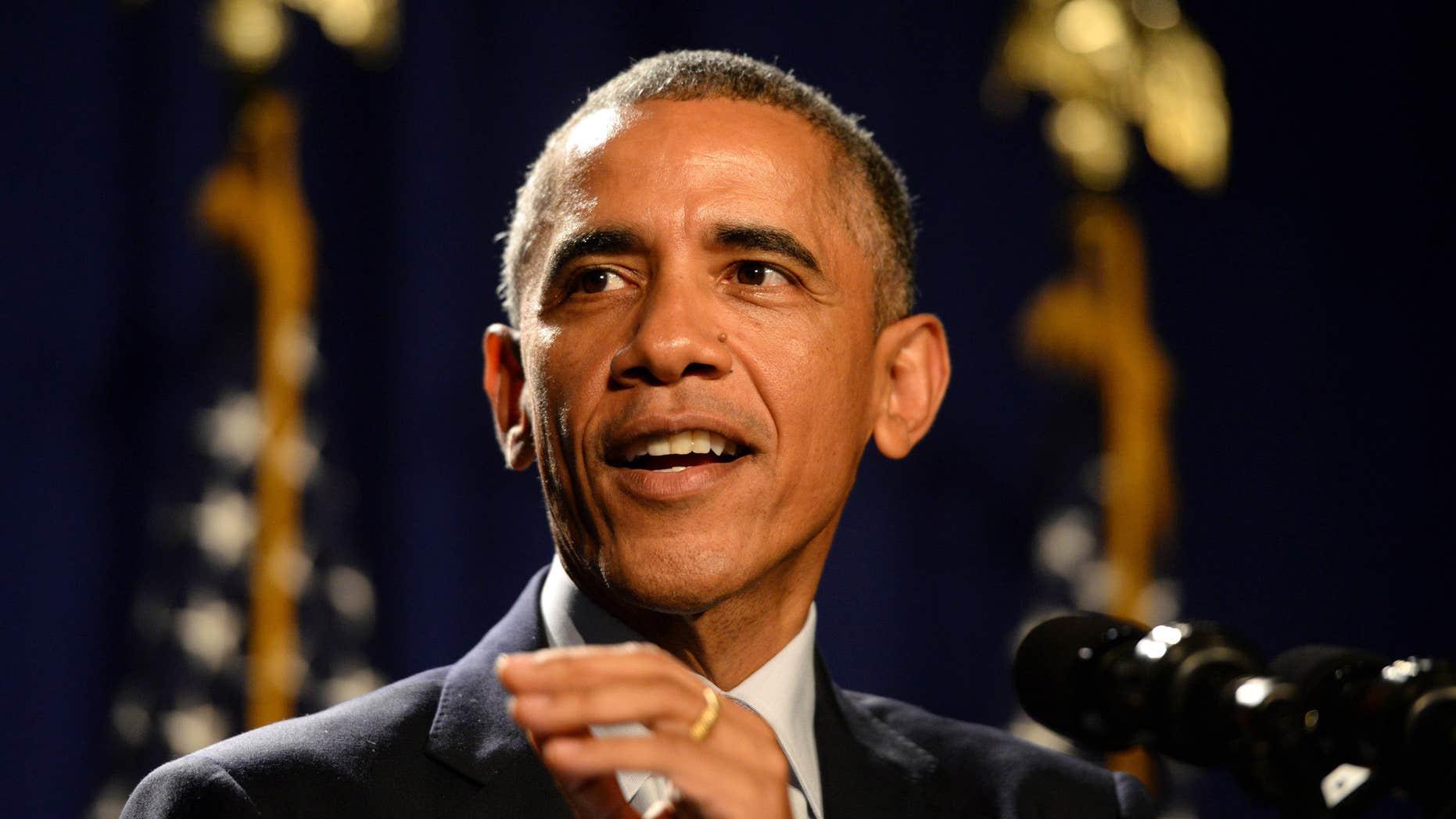 Jan. 29, 2015: President Barack Obama addresses House Democrats.