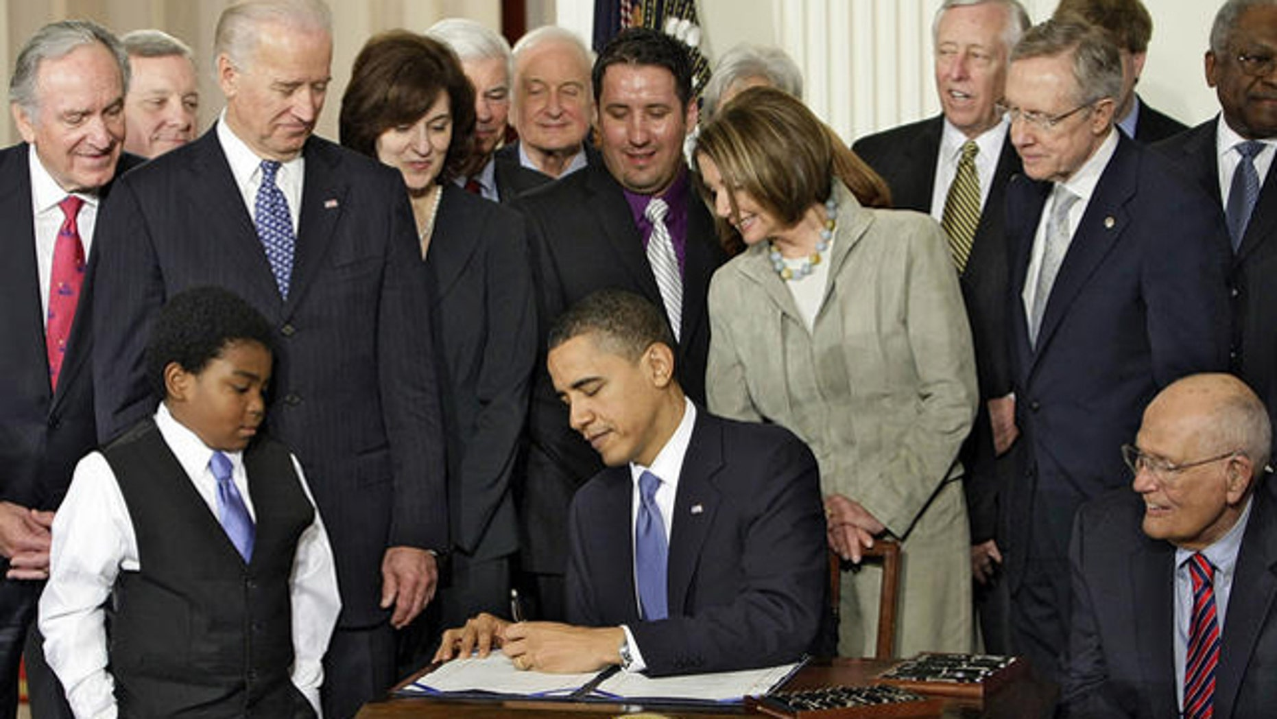 March 23, 2010: President Obama signs sweeping health care legislation into law.