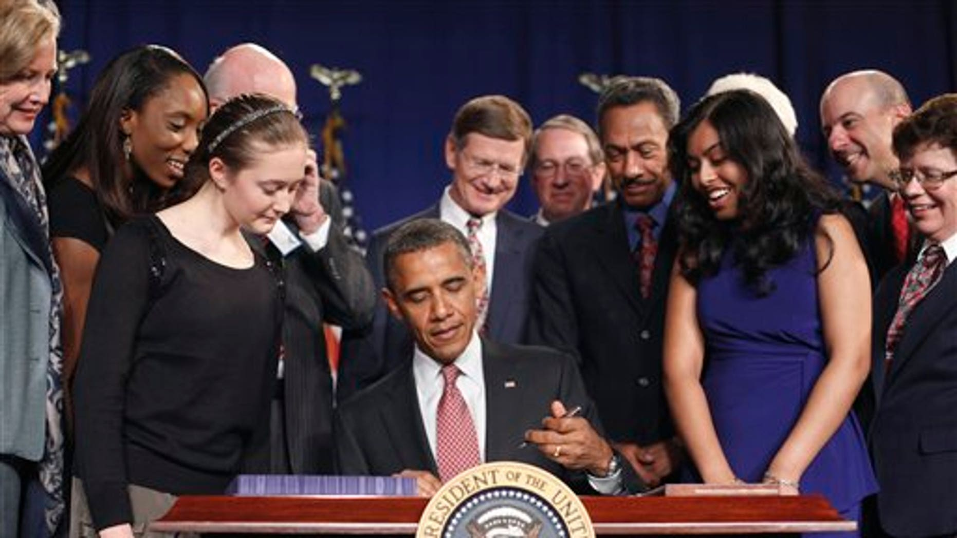 September 16: President Barack Obama signs the American Invents Act at Thomas Jefferson High School for Science and Technology in Alexandria, Va.