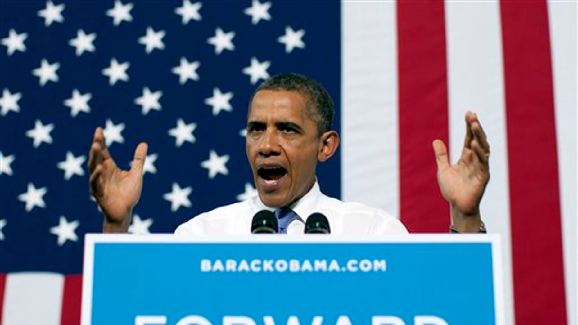 Aug. 21: President Obama speaks during a campaign event at Truckee Meadows Community College in Reno, Nev.