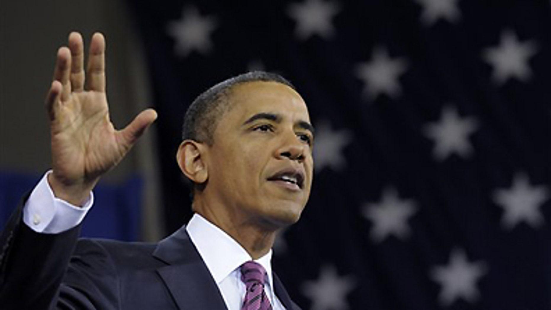 Feb. 1, 2012: President Barack Obama speaks in Falls Church, Va.